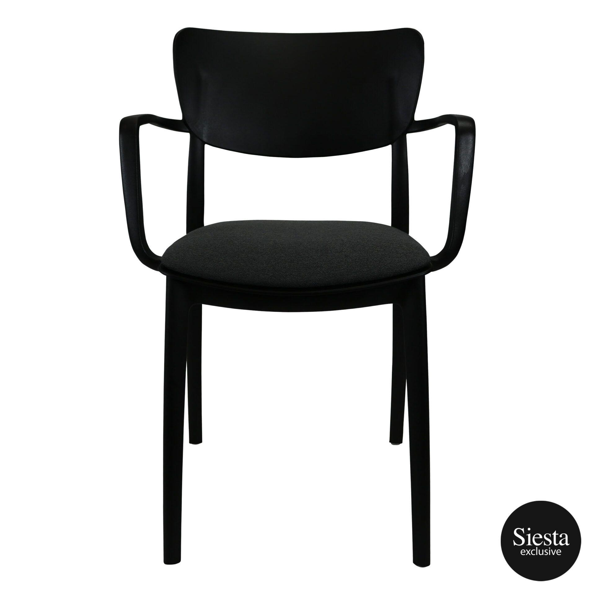 lisa armchair black c6