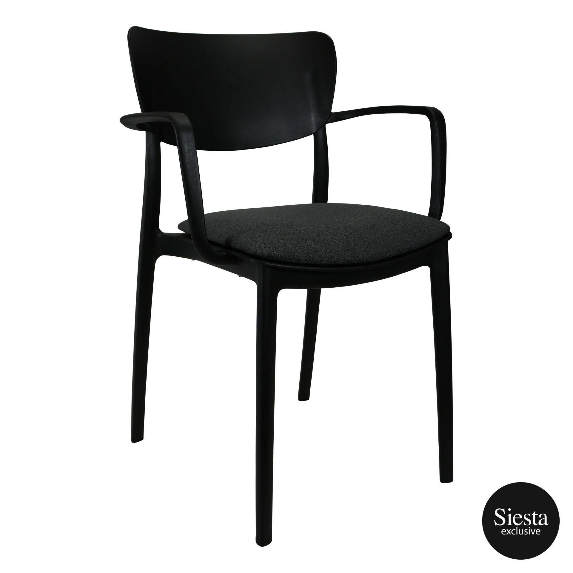 lisa armchair black c6a