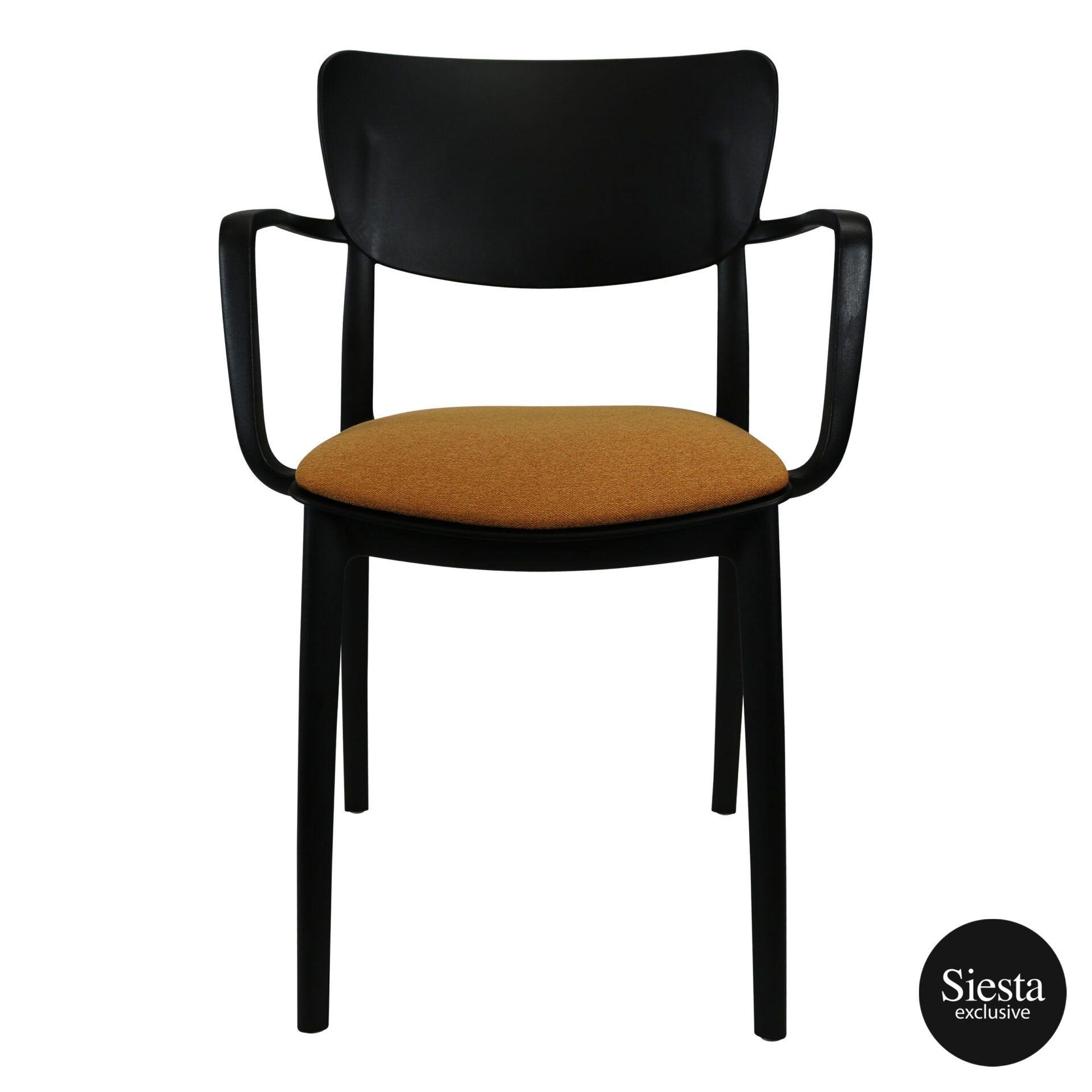 lisa armchair black c7