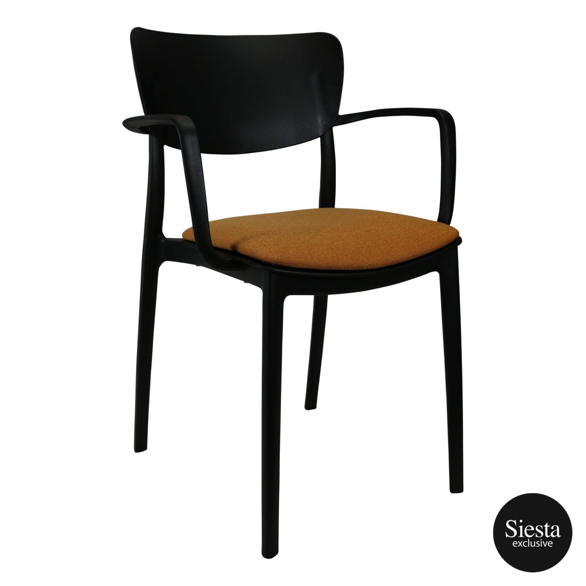 lisa armchair black c7a