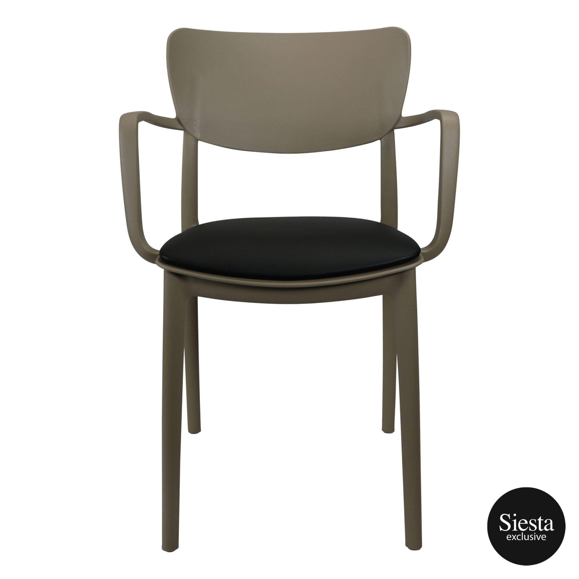 lisa armchair taupe c1