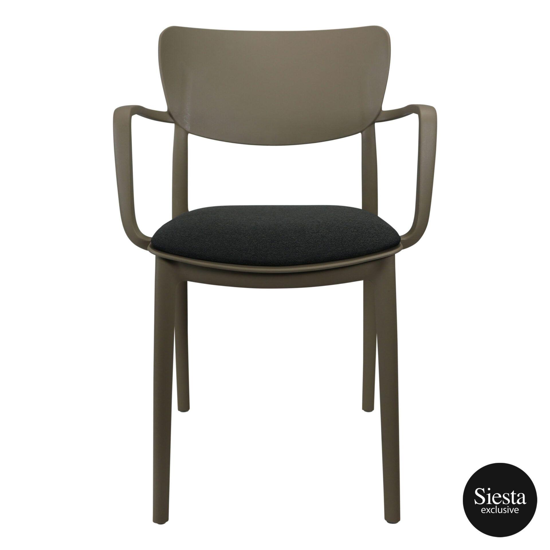 lisa armchair taupe c6