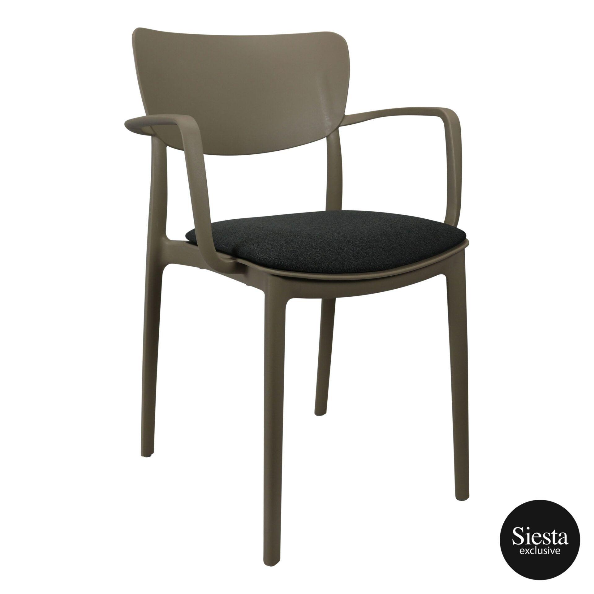 lisa armchair taupe c6a