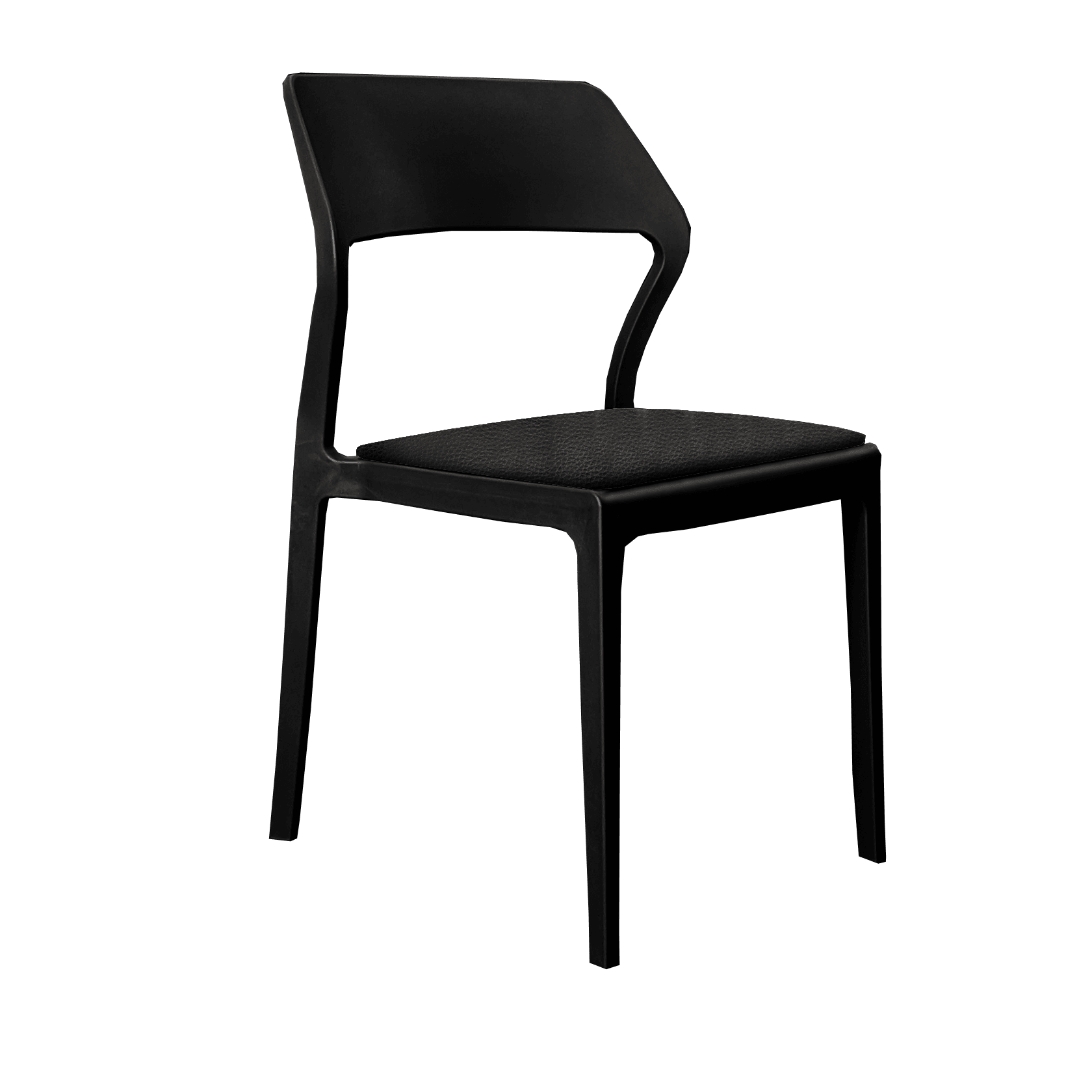 snowchair cushion blackvinyl
