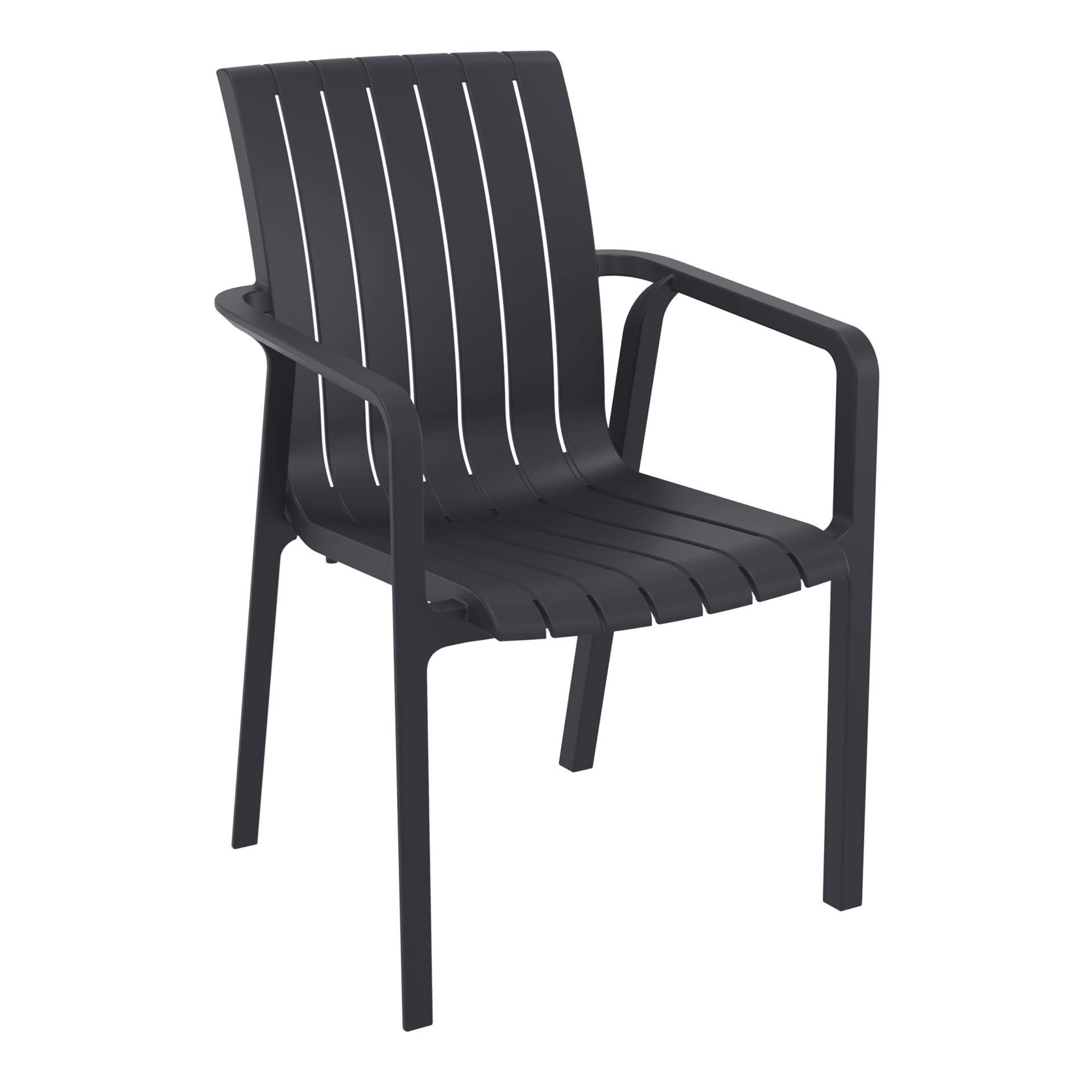 004 slim armchair black front side copy