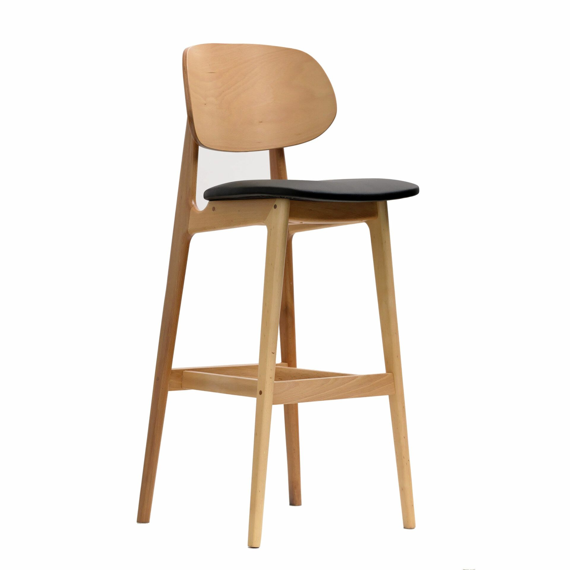 banstool naturalframe blackvinylseat frontsideright