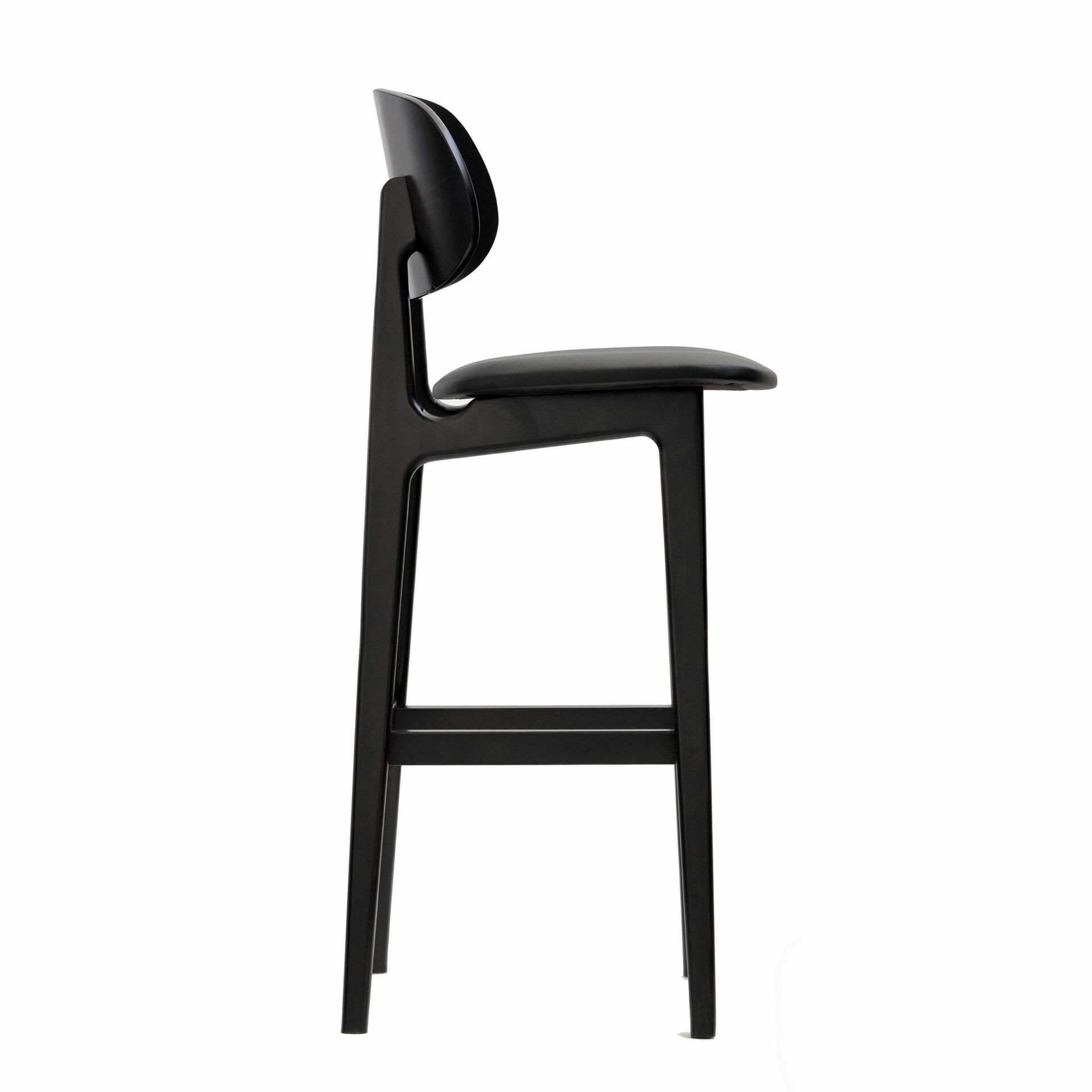 banstool wengeframe blackvinylseat sideright