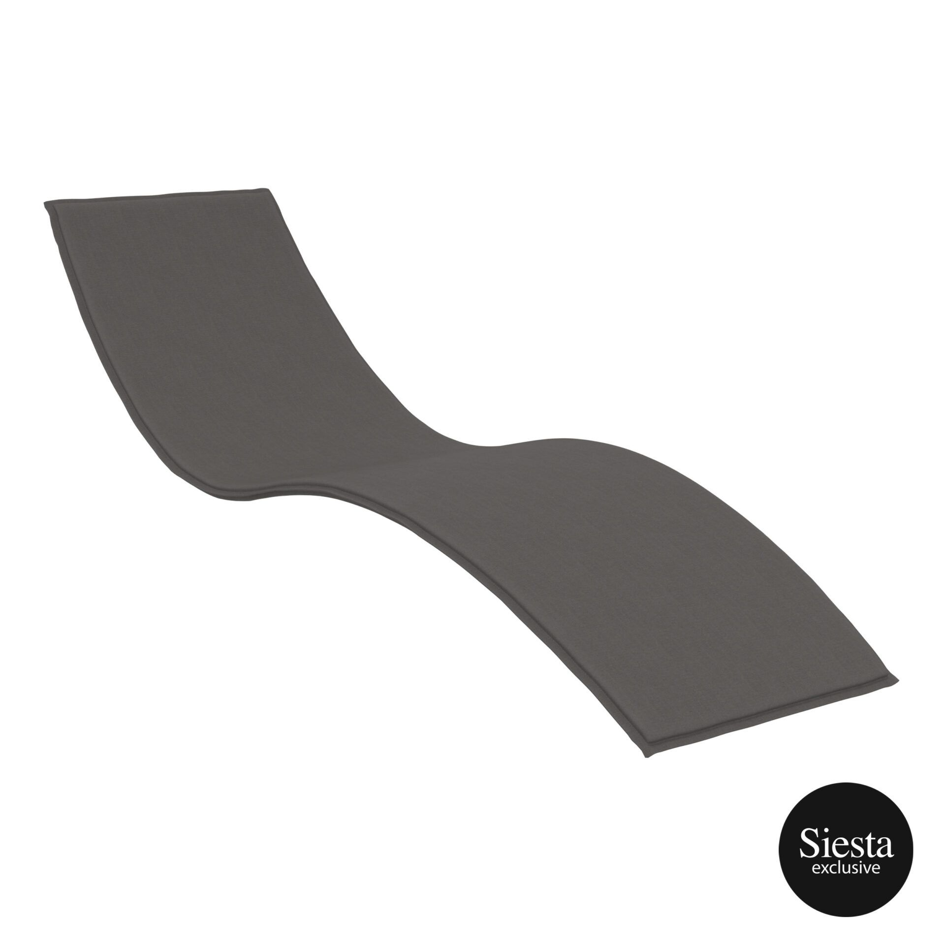 outdoor polypropylene slim sunlounger cushion darkgrey cushion