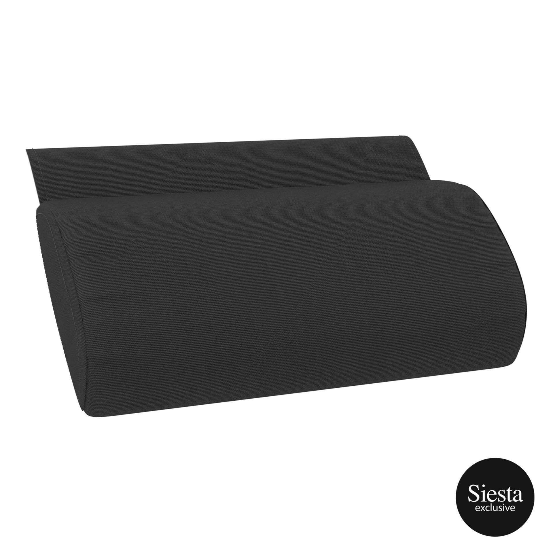 outdoor polypropylene slim sunlounger pillow cushion black pillow cushion