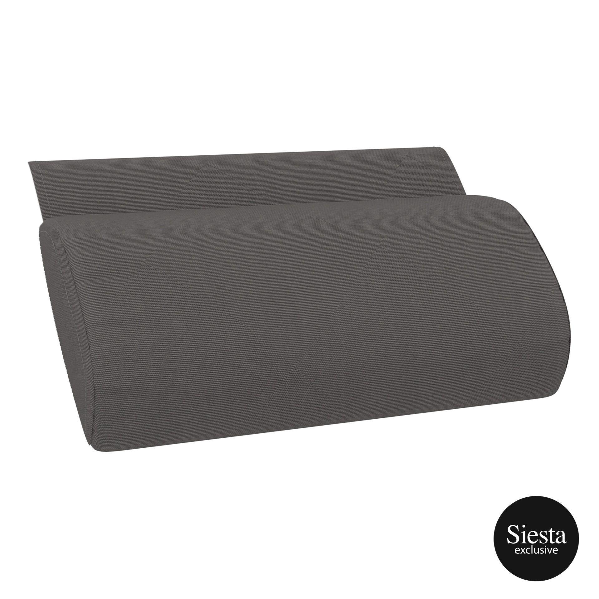 outdoor polypropylene slim sunlounger pillow cushion darkgrey pillow cushion