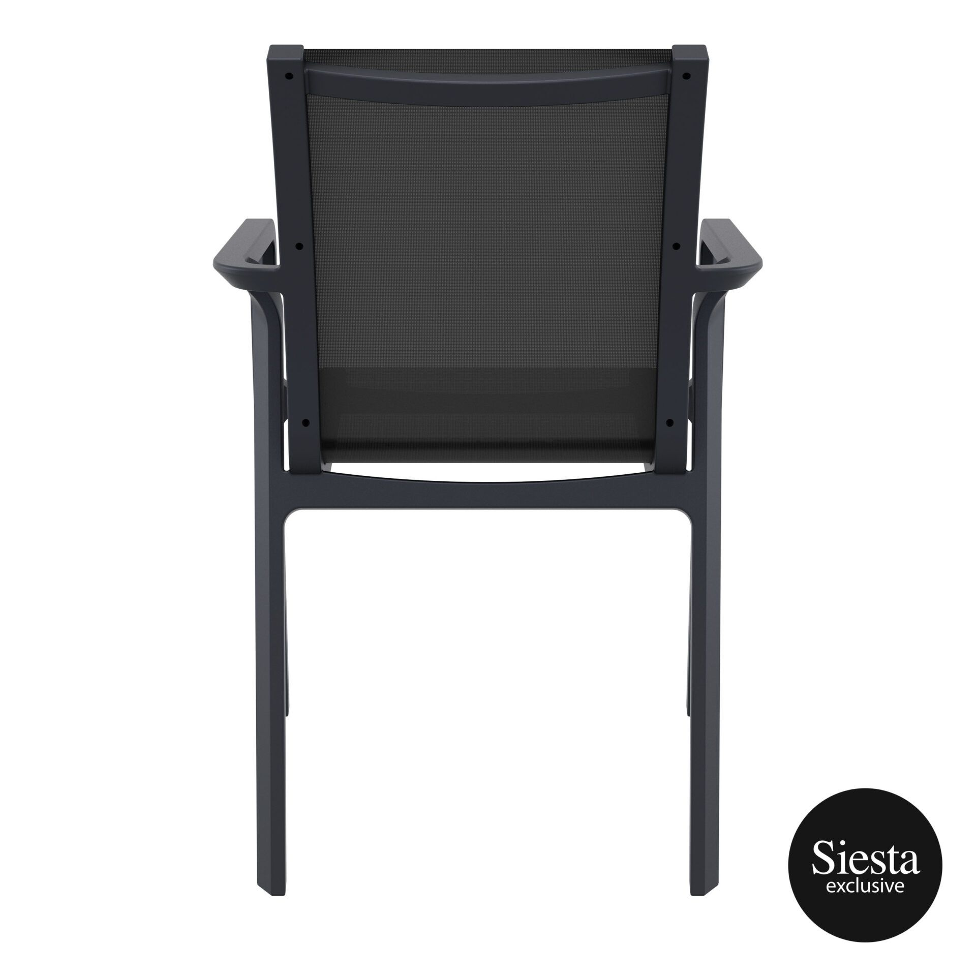 outdoor seating pacific armchair black black back 2