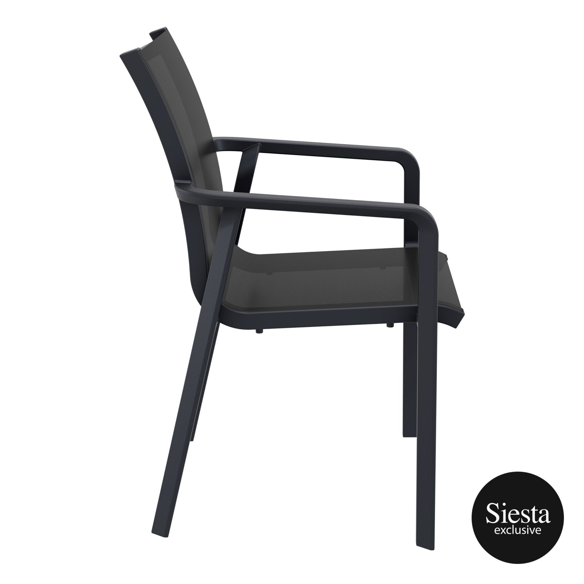 outdoor seating pacific armchair black black side 2