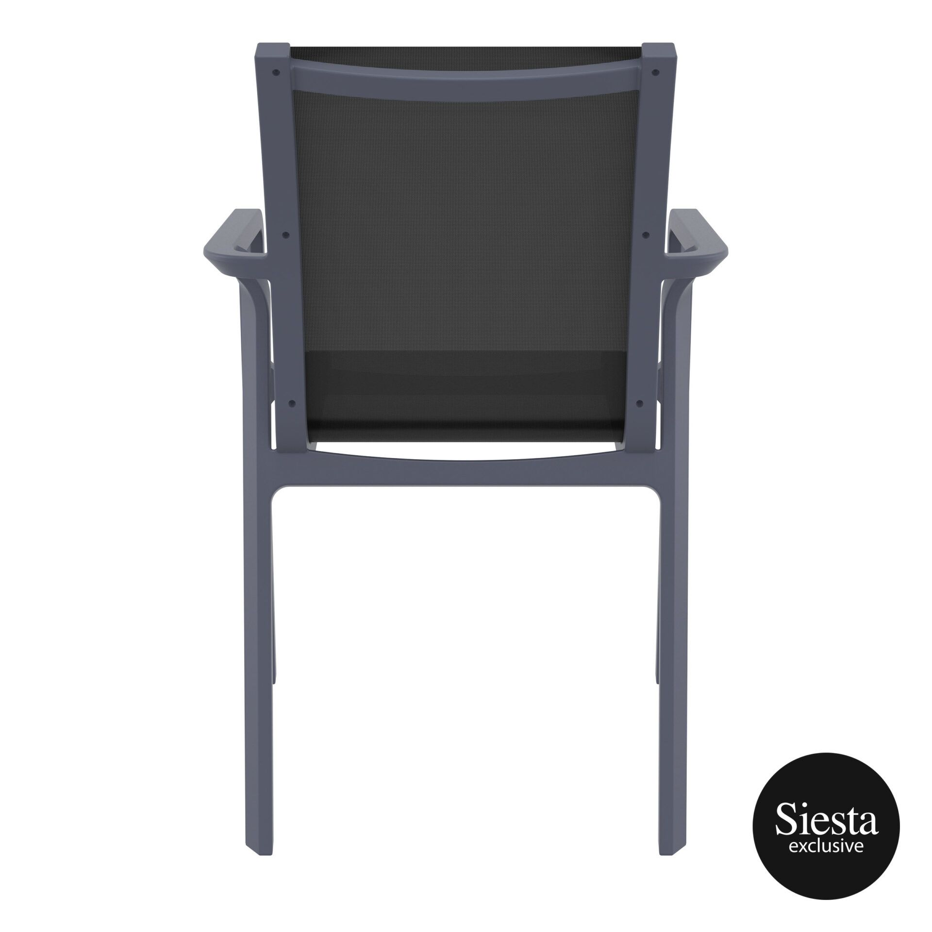 outdoor seating pacific armchair darkgrey black back 2