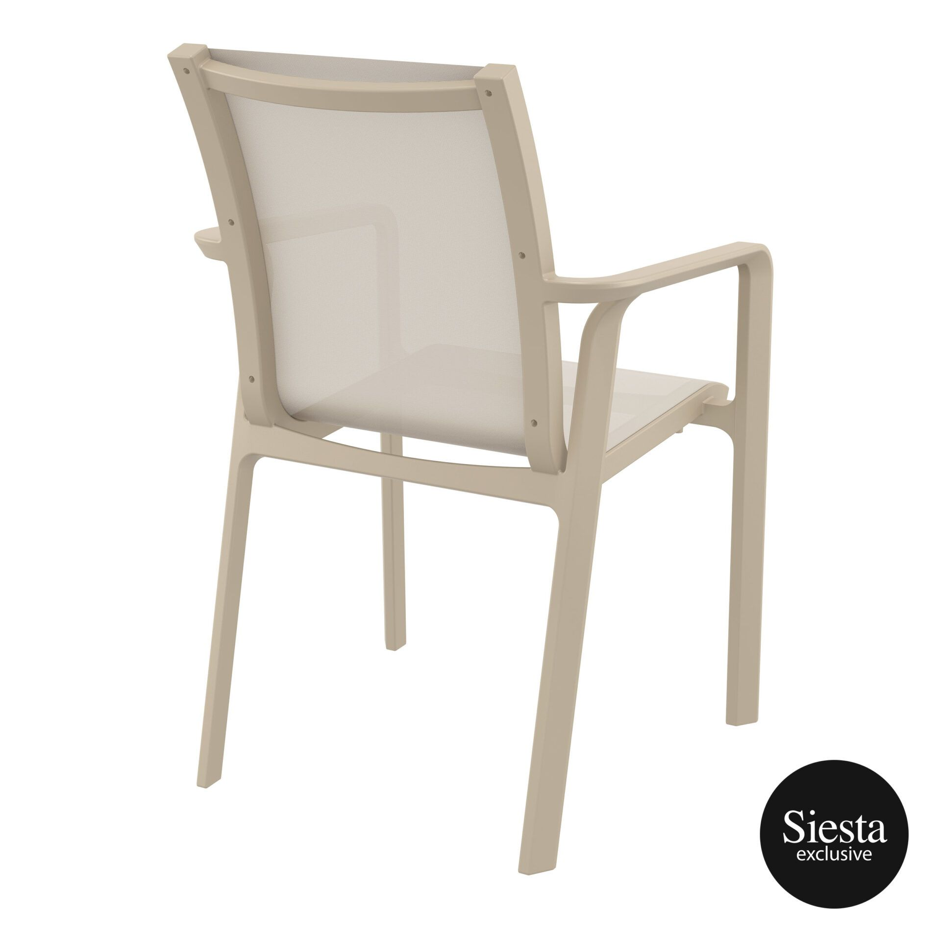 outdoor seating pacific armchair taupe taupe back side 2
