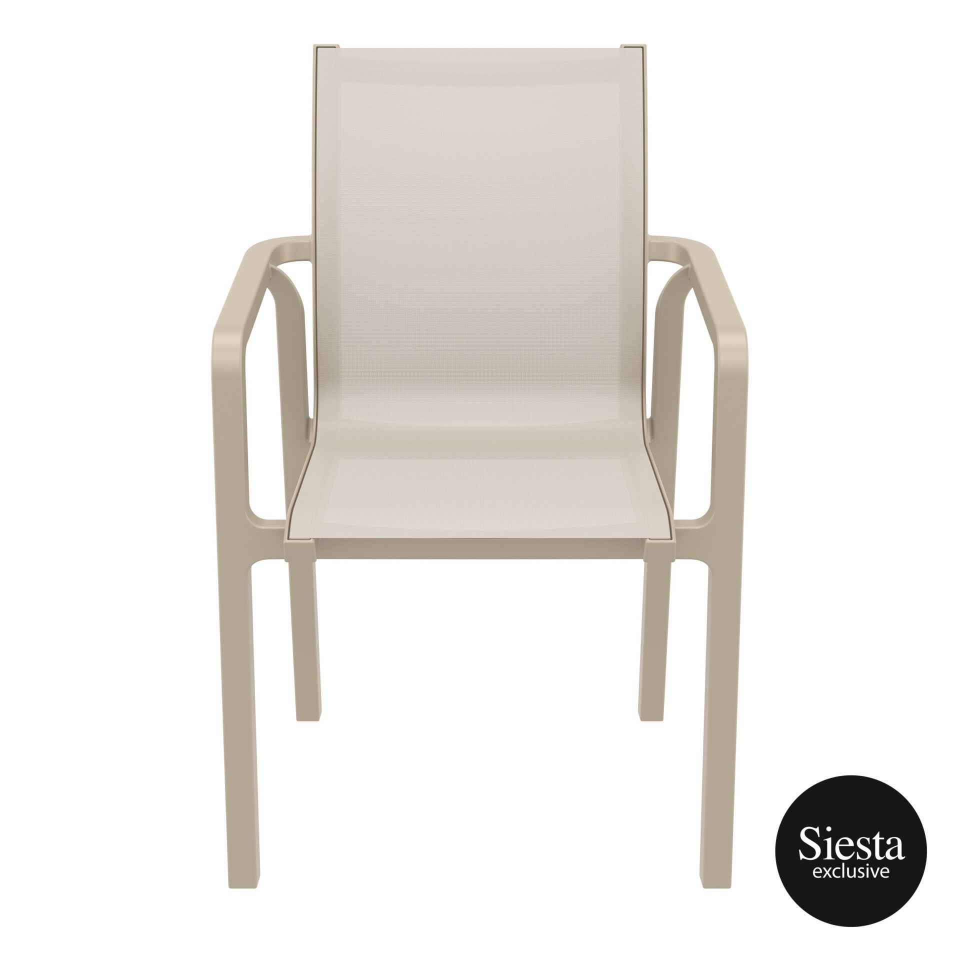 outdoor seating pacific armchair taupe taupe front 2