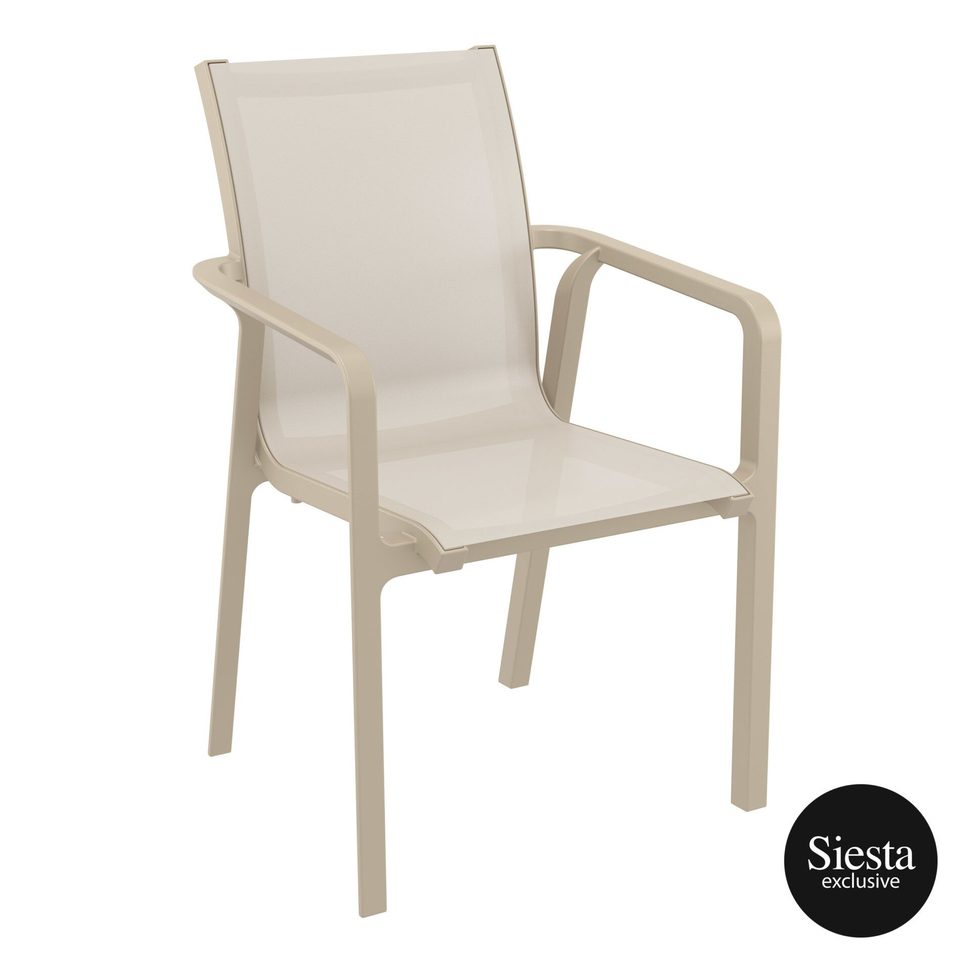 outdoor seating pacific armchair taupe taupe front side 2