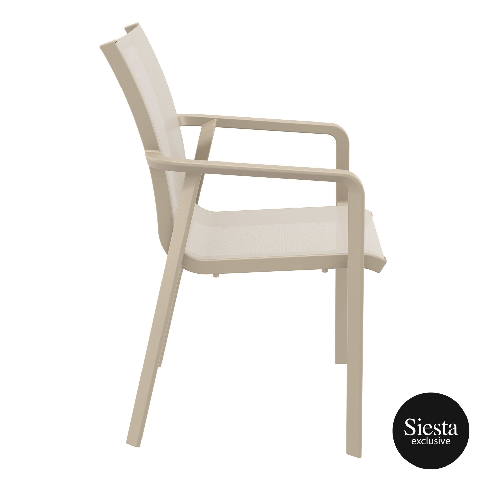 outdoor seating pacific armchair taupe taupe side 2