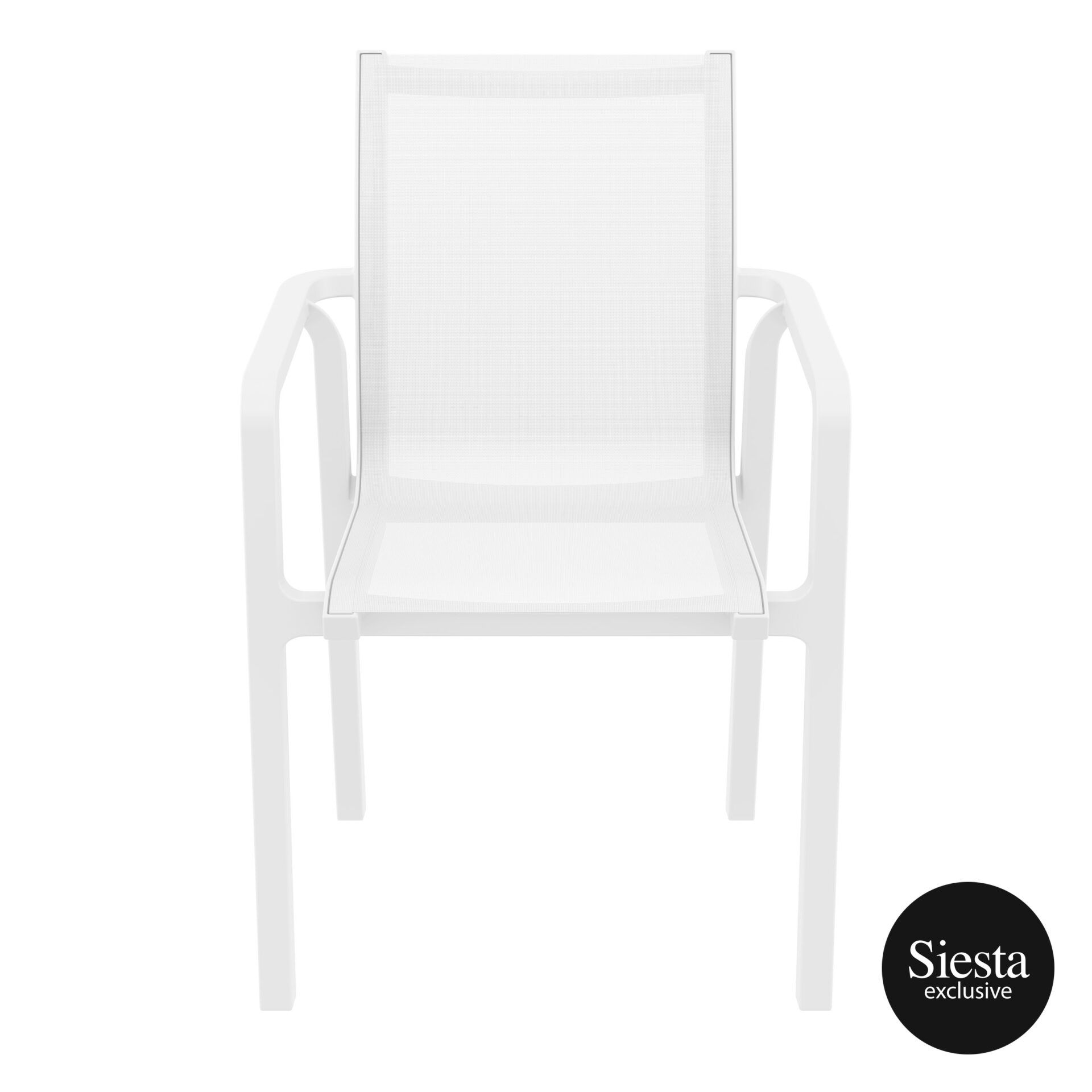 outdoor seating pacific armchair white white front 2