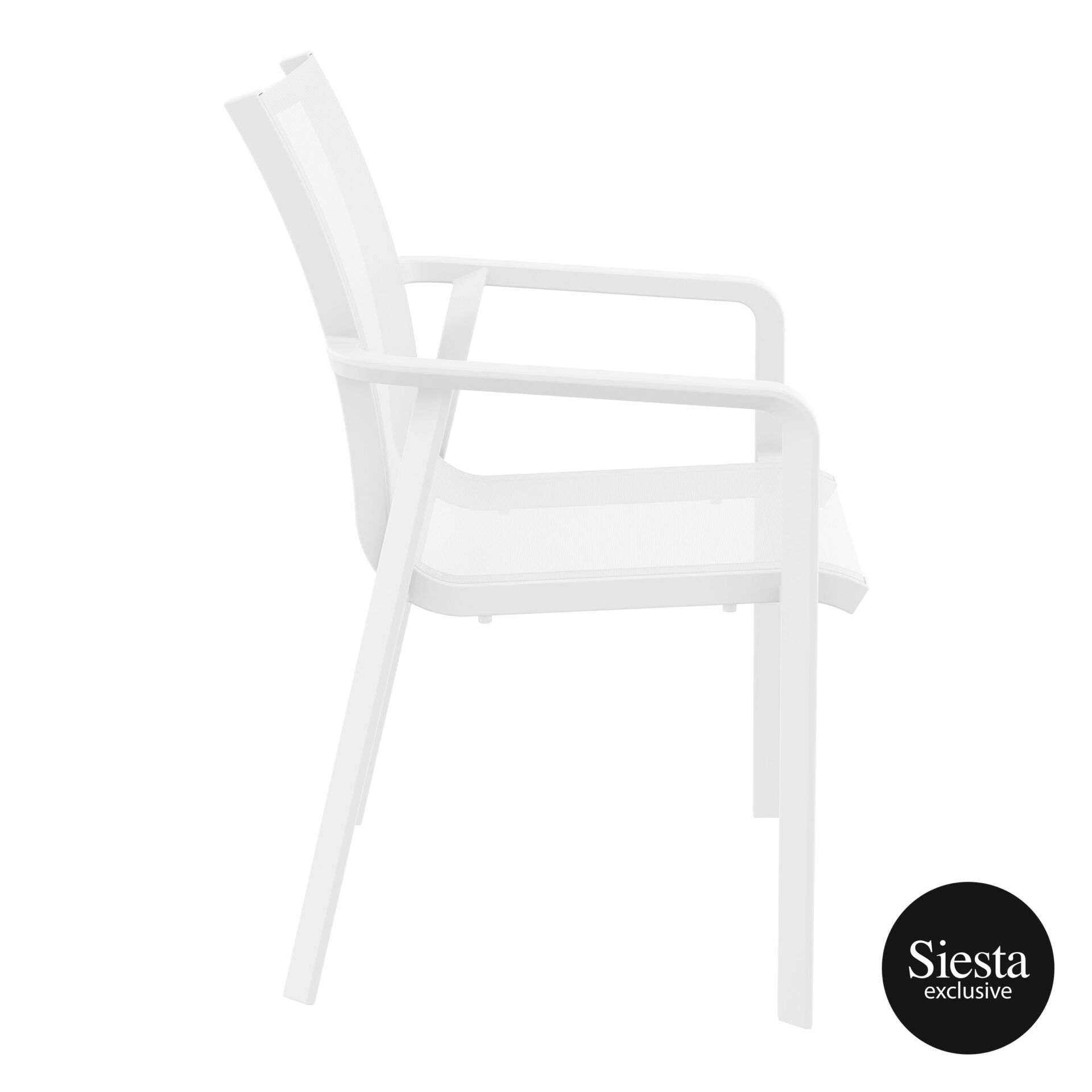 outdoor seating pacific armchair white white side 2