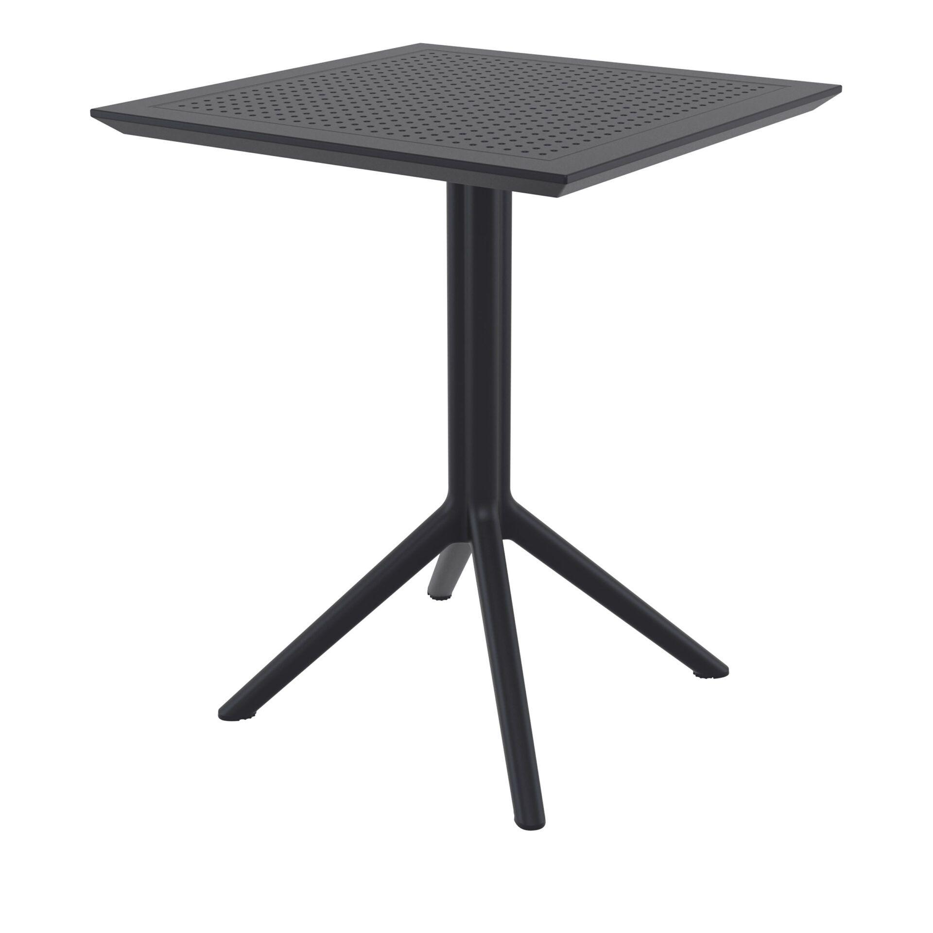 polypropylene outdoor sky folding bar table 60 black front side
