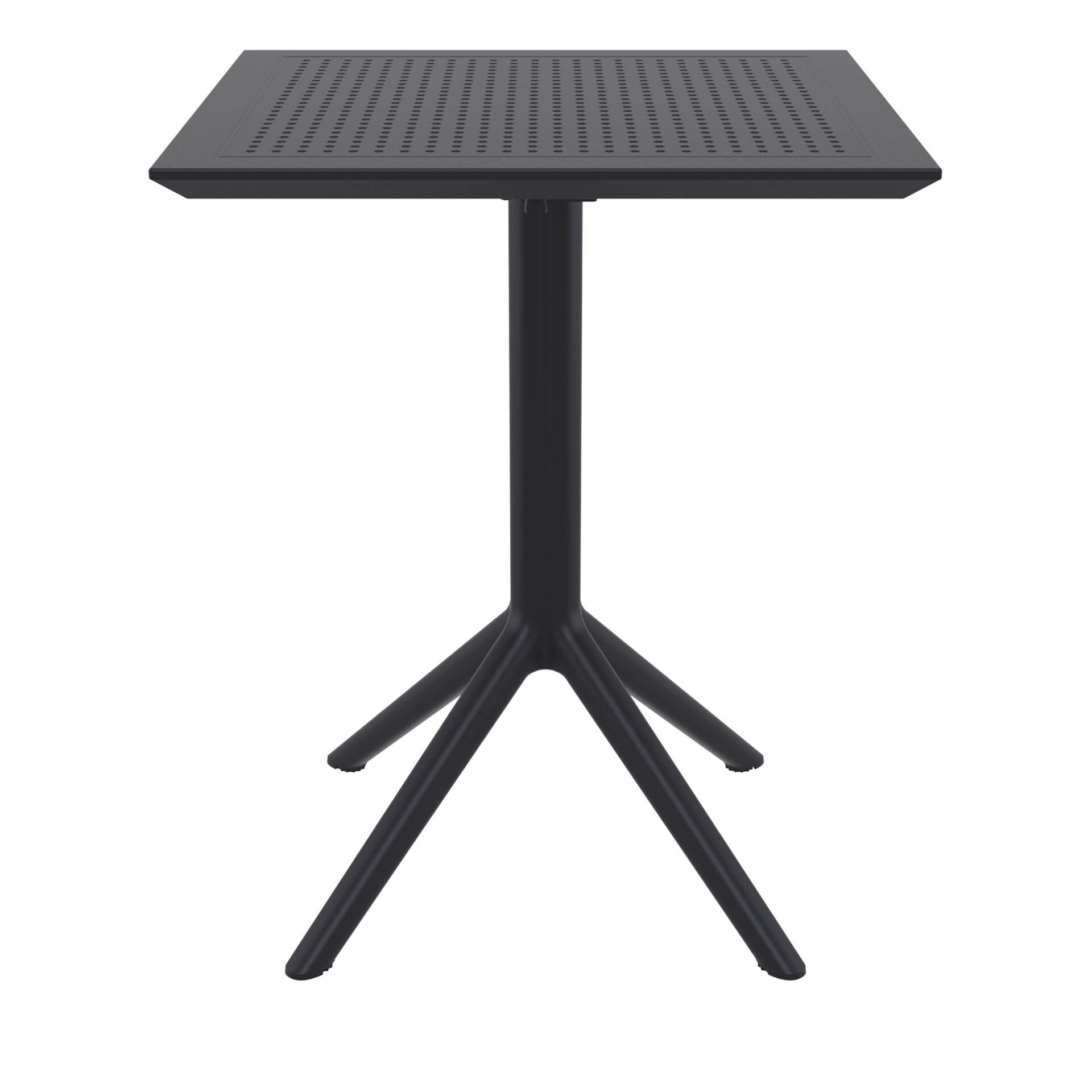 polypropylene outdoor sky folding bar table 60 black front