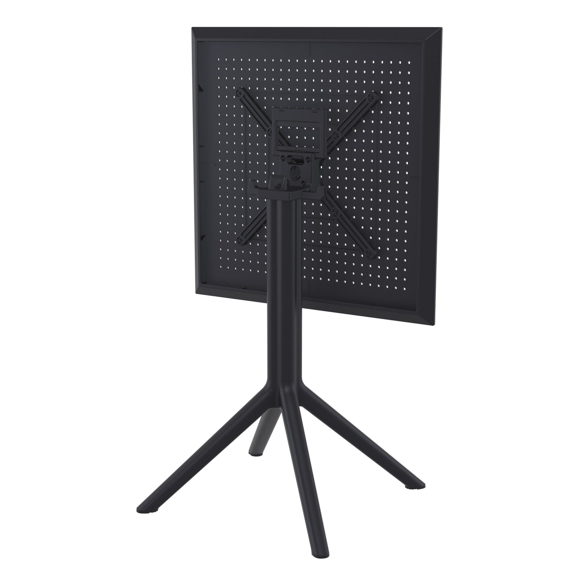 polypropylene outdoor sky folding bar table 60 black k back side