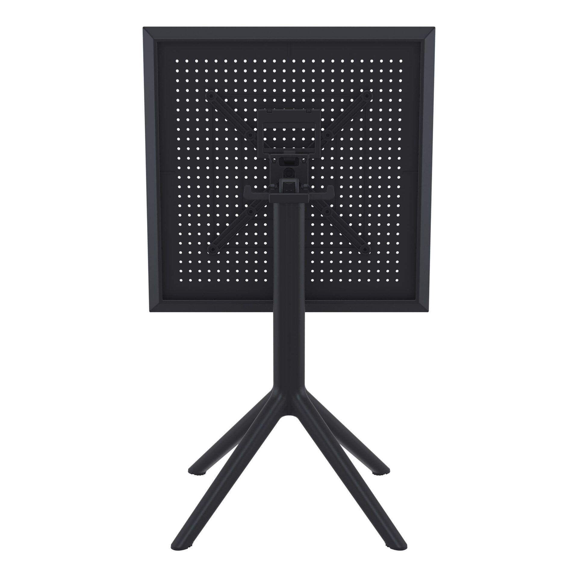 polypropylene outdoor sky folding bar table 60 black k back