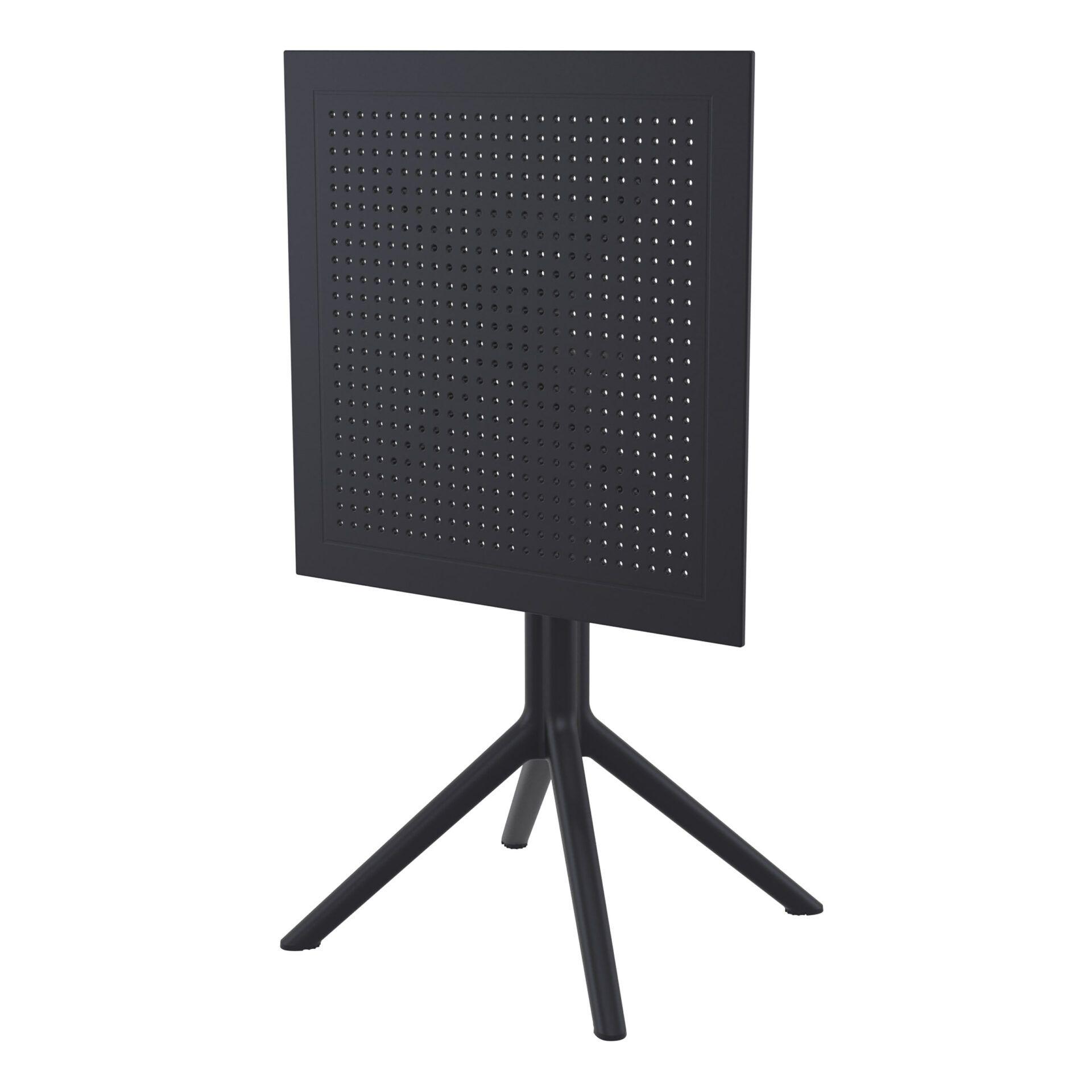 polypropylene outdoor sky folding bar table 60 black k front side