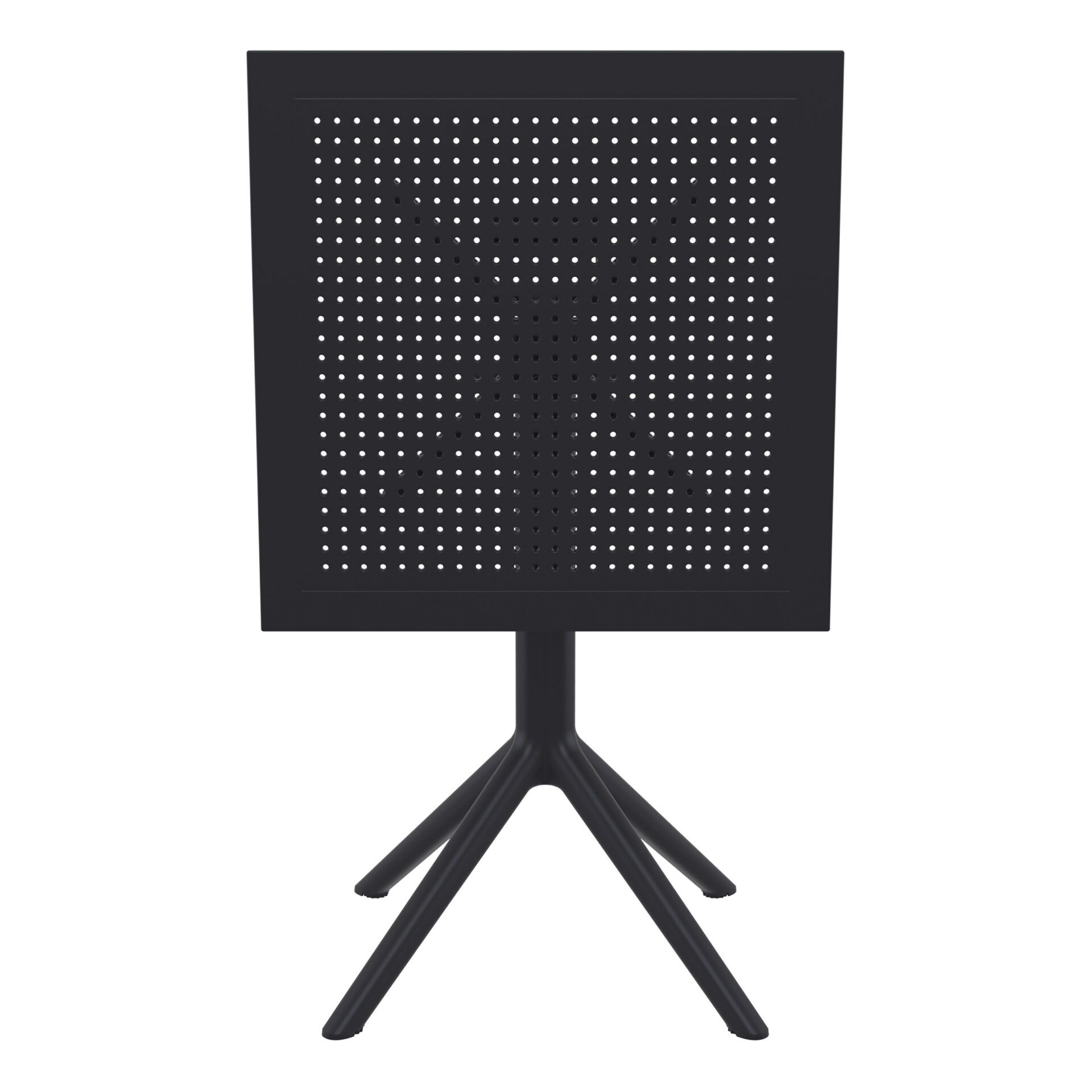 polypropylene outdoor sky folding bar table 60 black k front