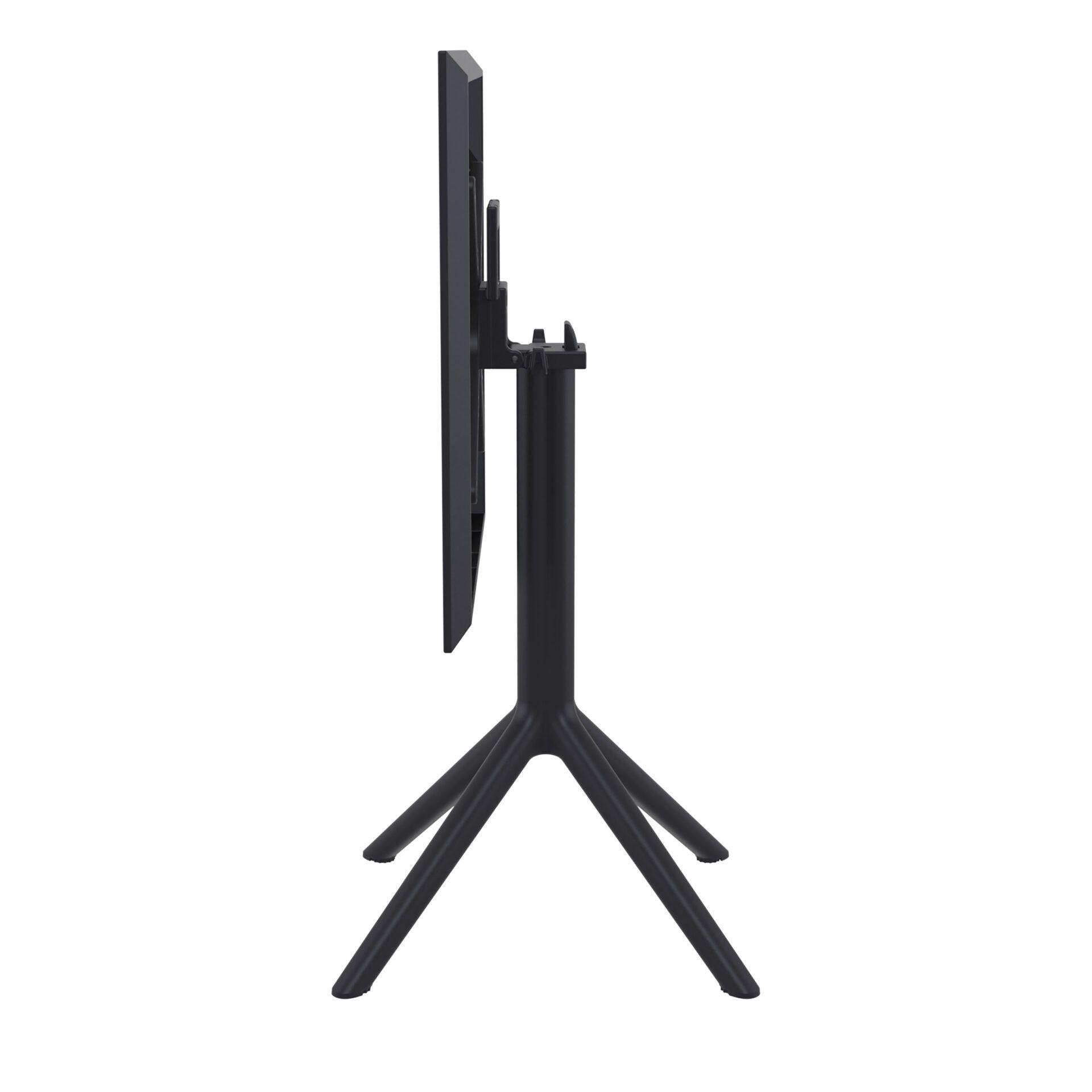 polypropylene outdoor sky folding bar table 60 black k side