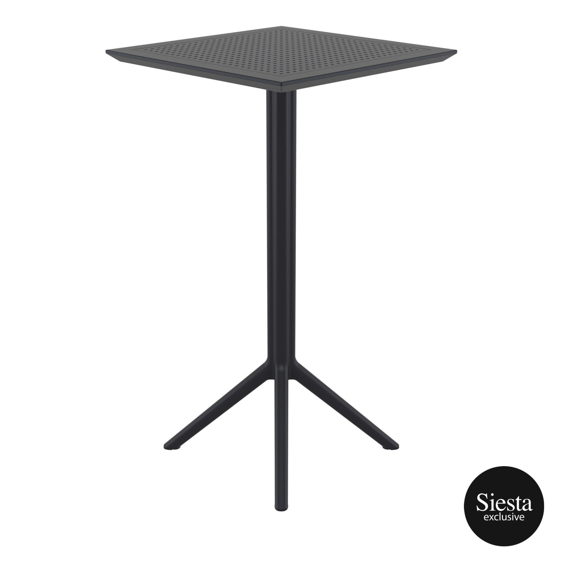 polypropylene outdoor sky folding bar table 60 black side 2