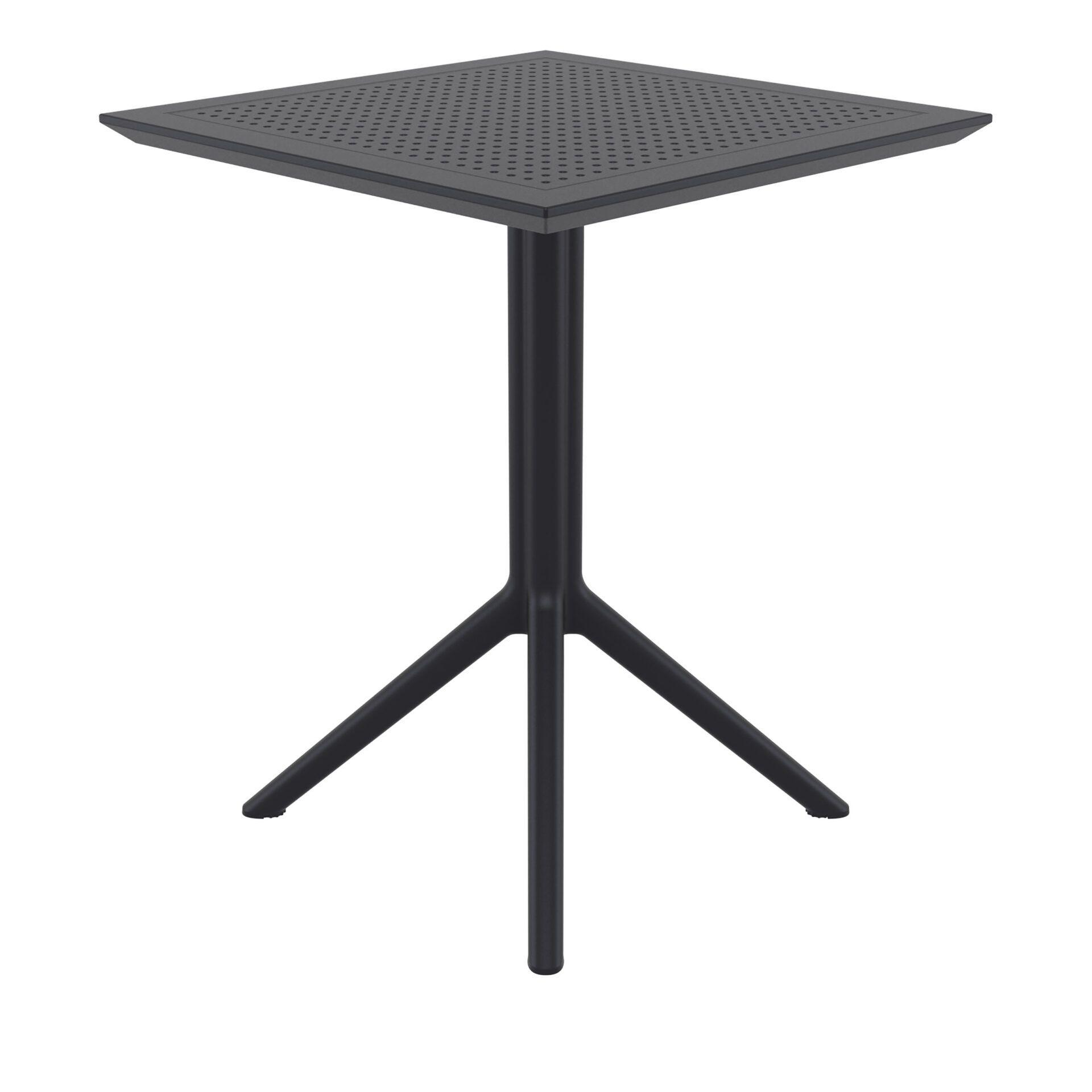 polypropylene outdoor sky folding bar table 60 black side
