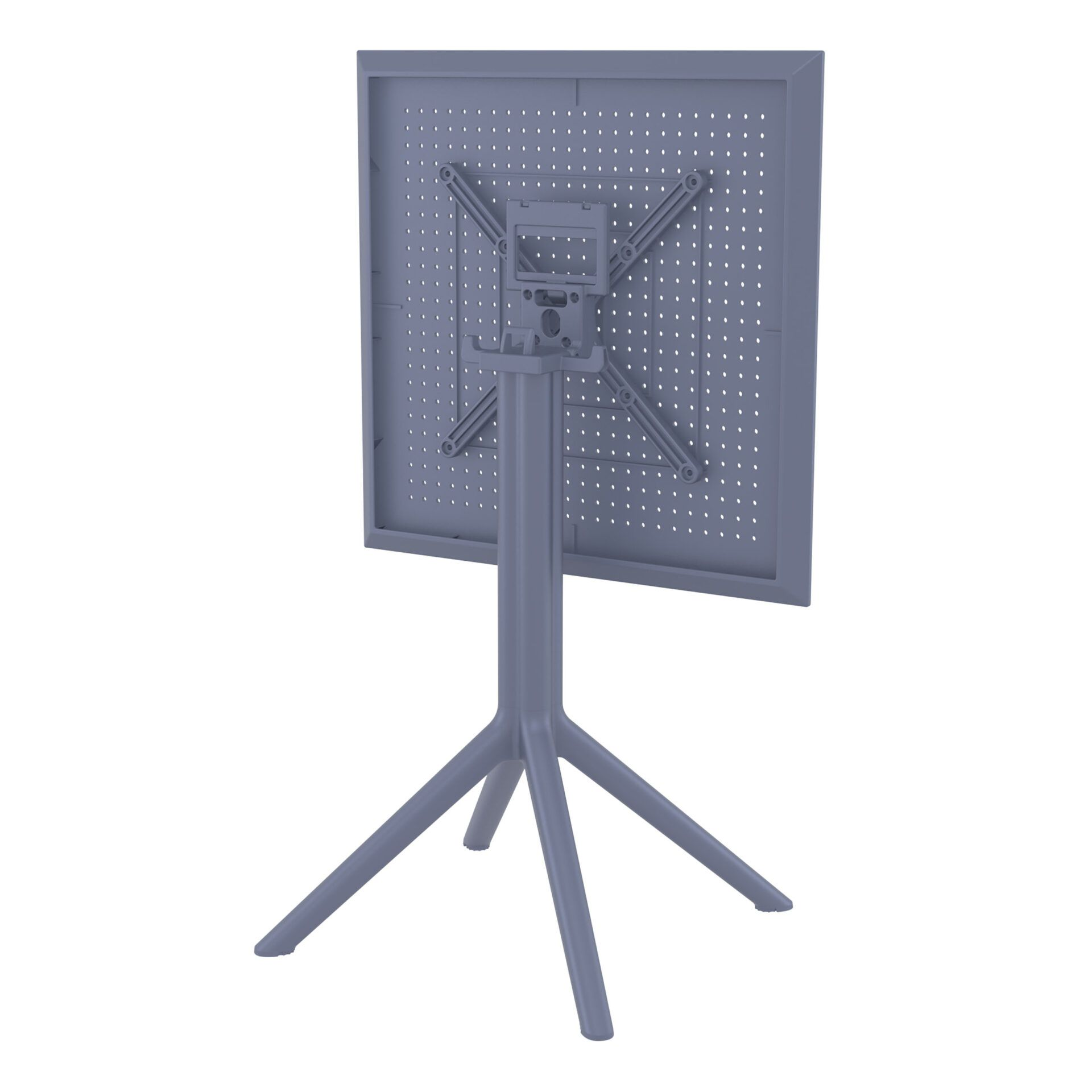 polypropylene outdoor sky folding bar table 60 darkgrey k back side