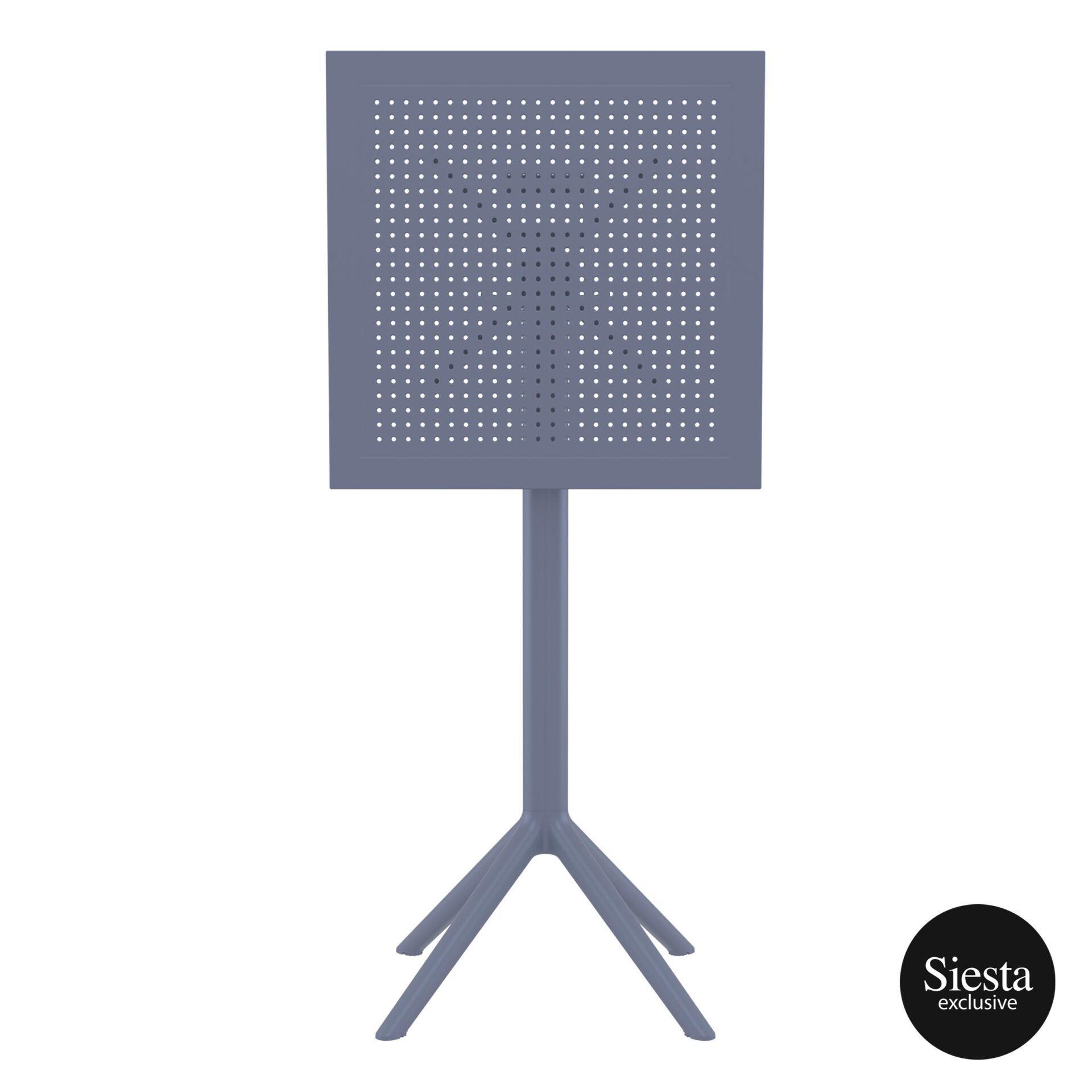 polypropylene outdoor sky folding bar table 60 darkgrey k front 2