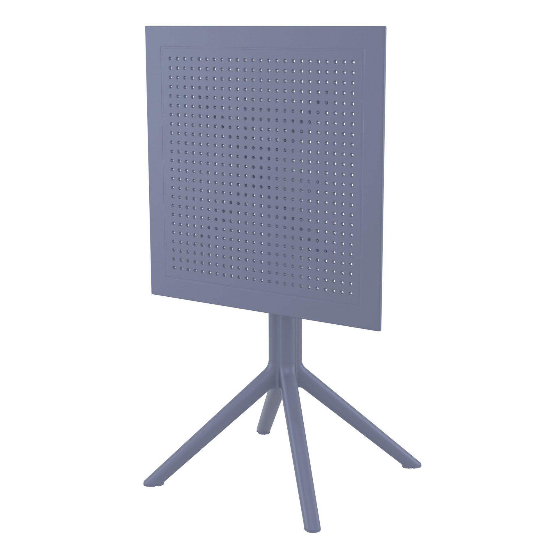 polypropylene outdoor sky folding bar table 60 darkgrey k front side