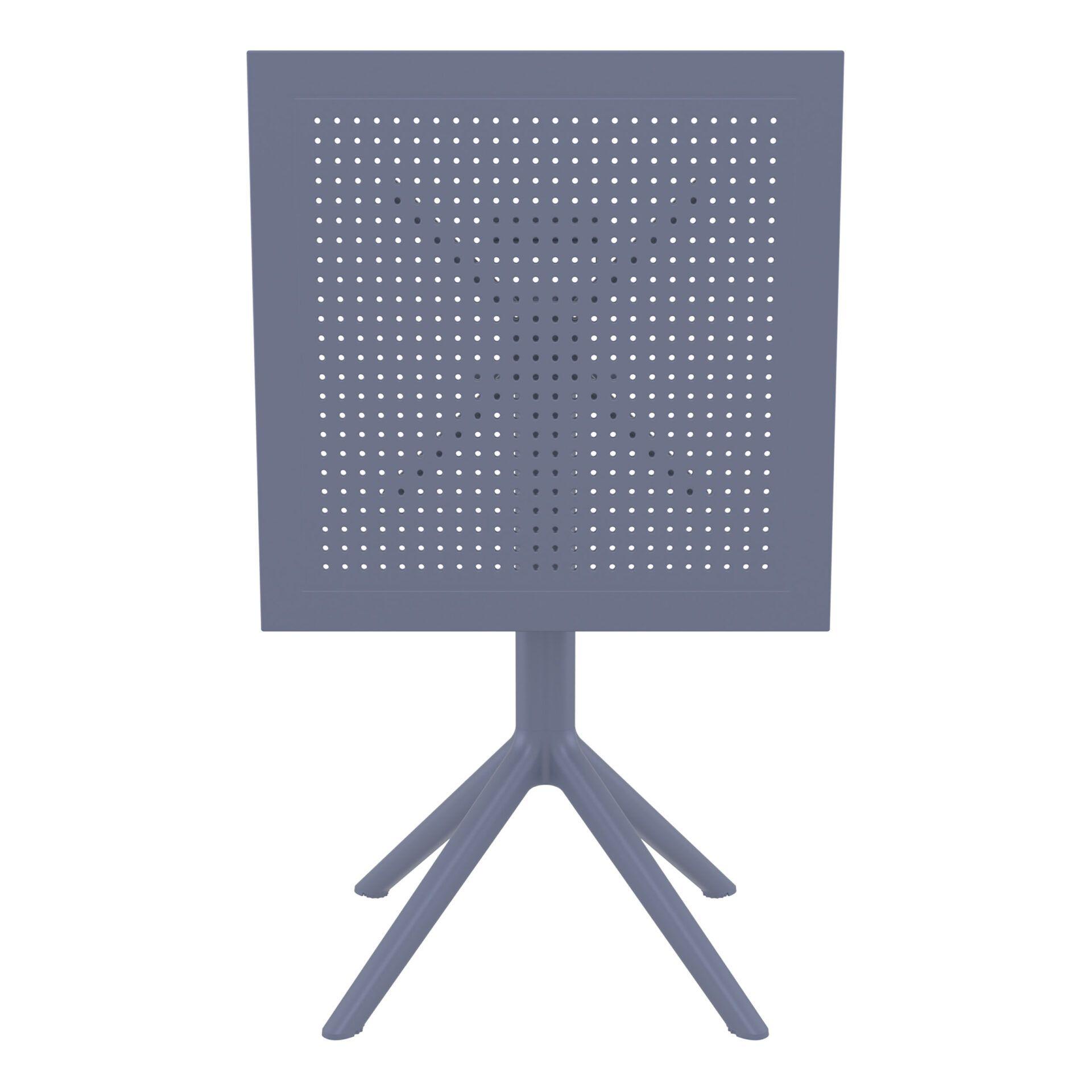 polypropylene outdoor sky folding bar table 60 darkgrey k front