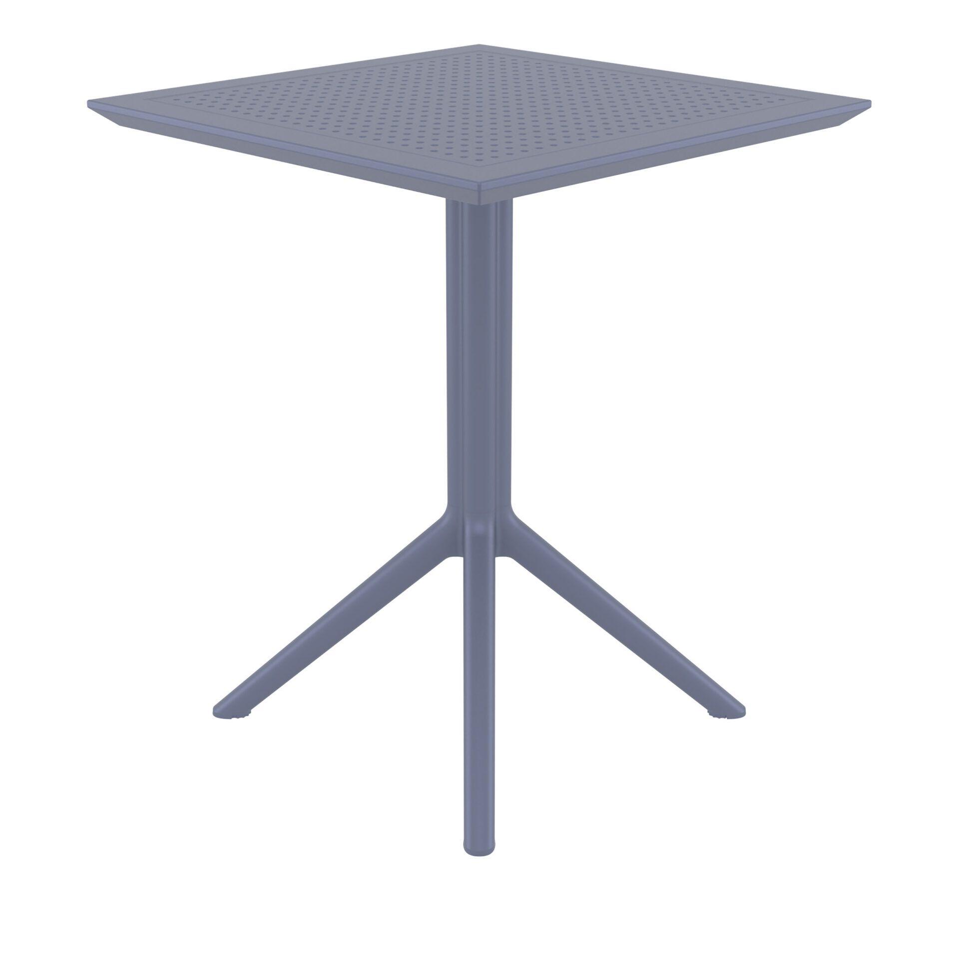 polypropylene outdoor sky folding bar table 60 darkgrey side