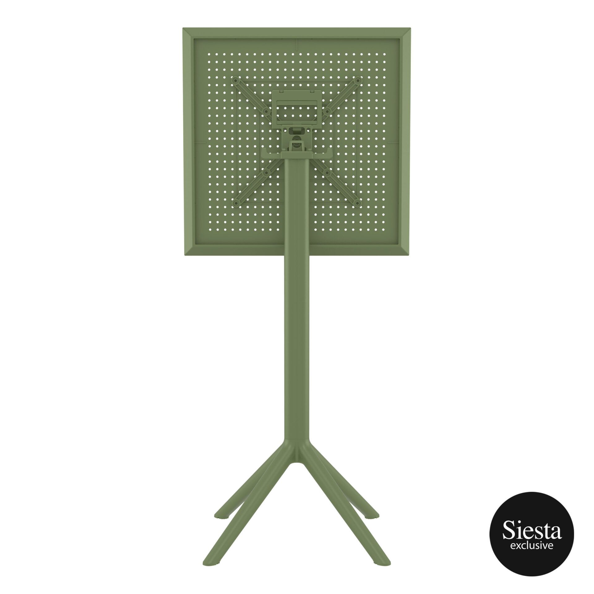 polypropylene outdoor sky folding bar table 60 olive green k back 2