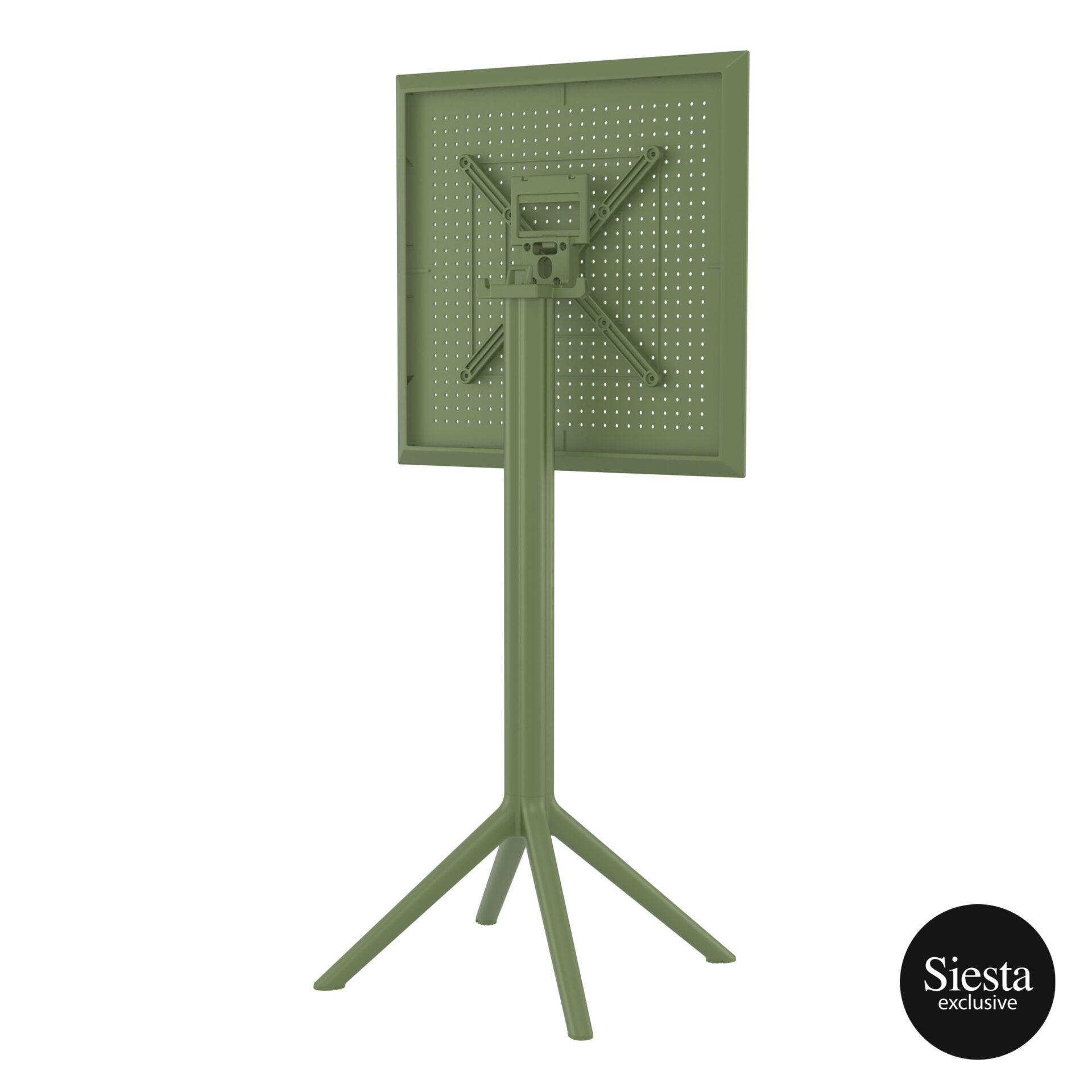 polypropylene outdoor sky folding bar table 60 olive green k back side 2