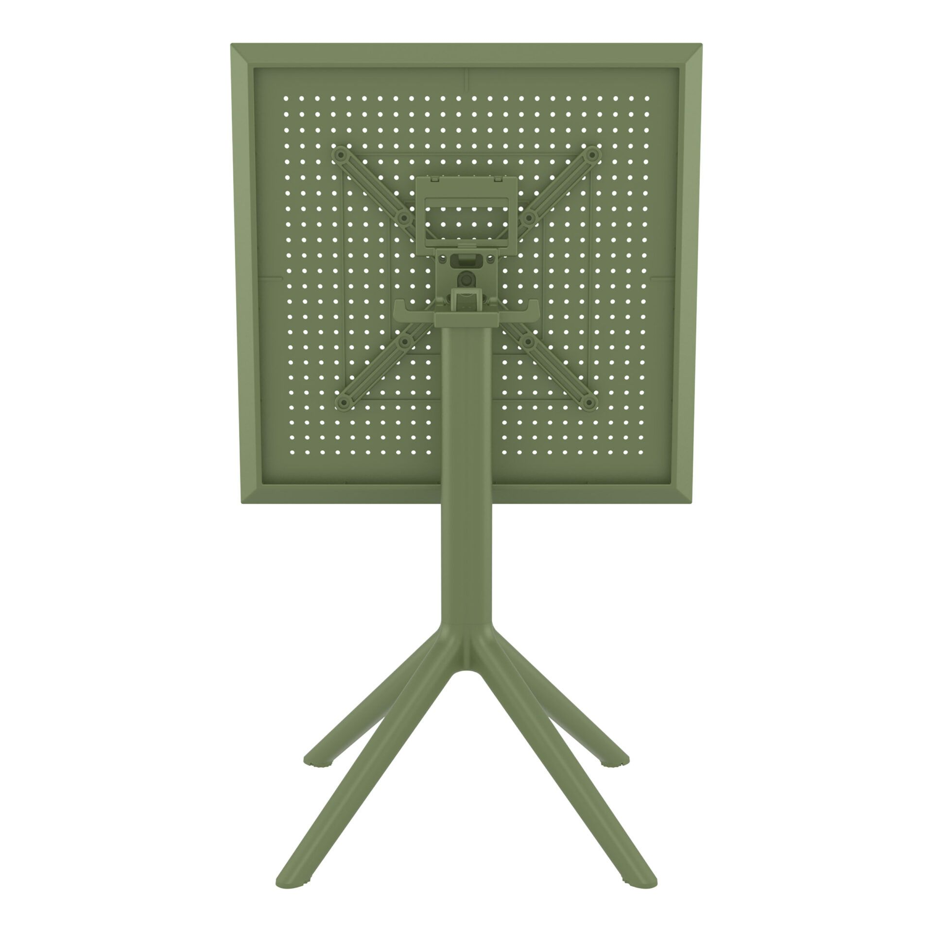 polypropylene outdoor sky folding bar table 60 olive green k back