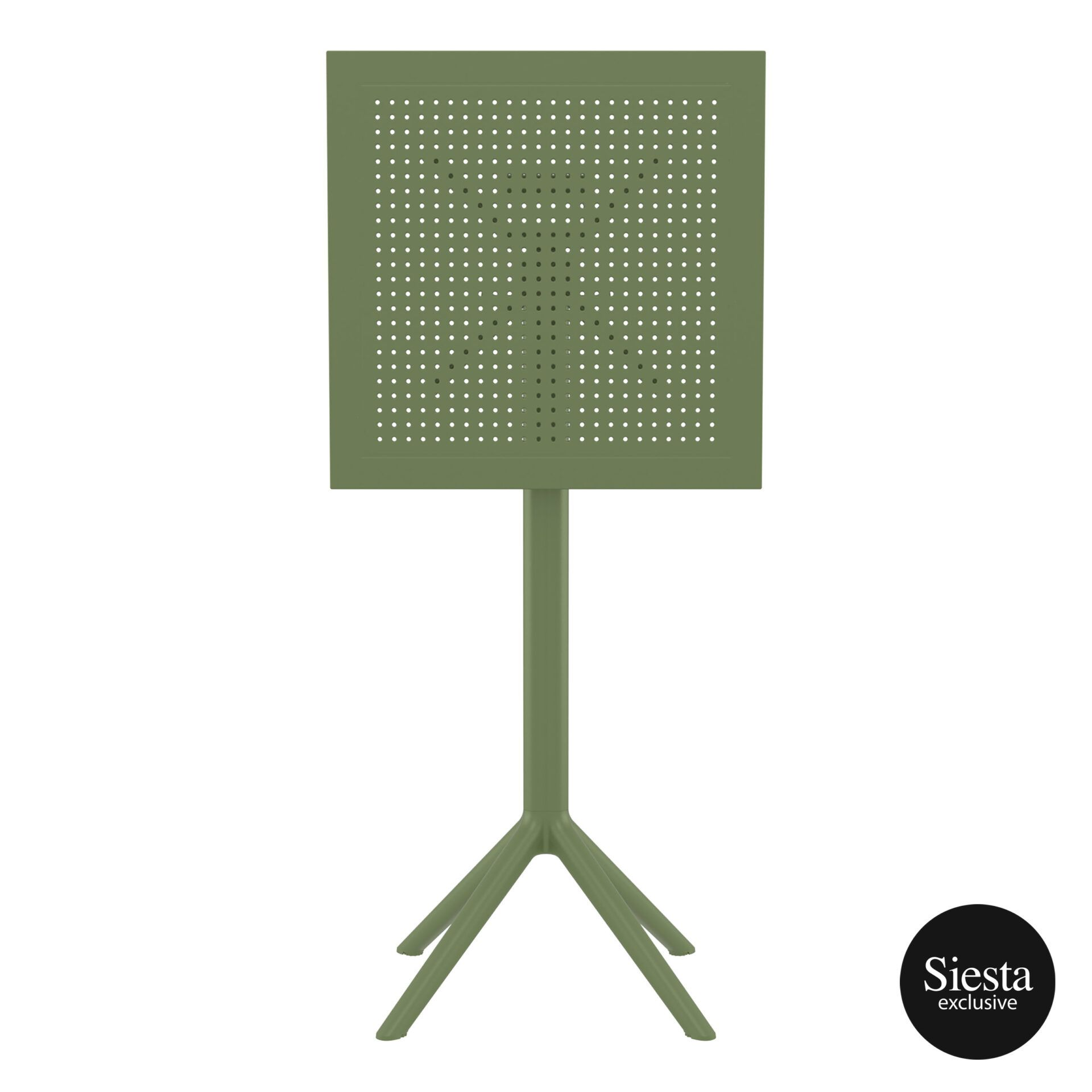 polypropylene outdoor sky folding bar table 60 olive green k front 2