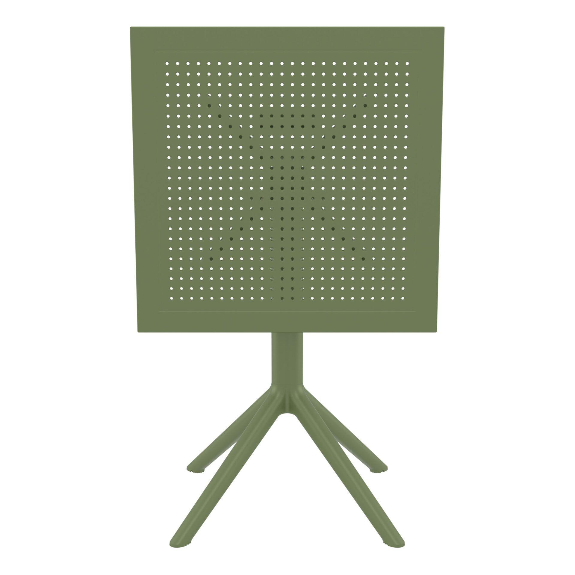 polypropylene outdoor sky folding bar table 60 olive green k front