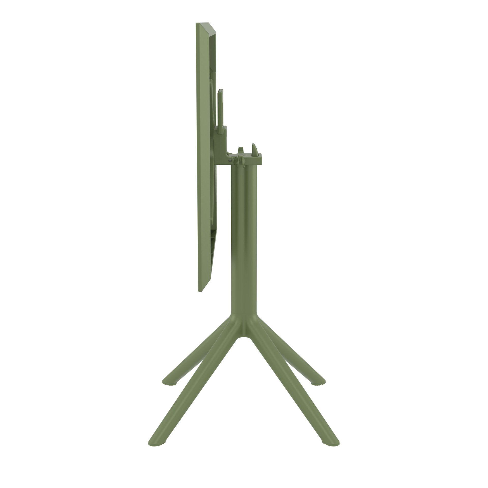 polypropylene outdoor sky folding bar table 60 olive green k side