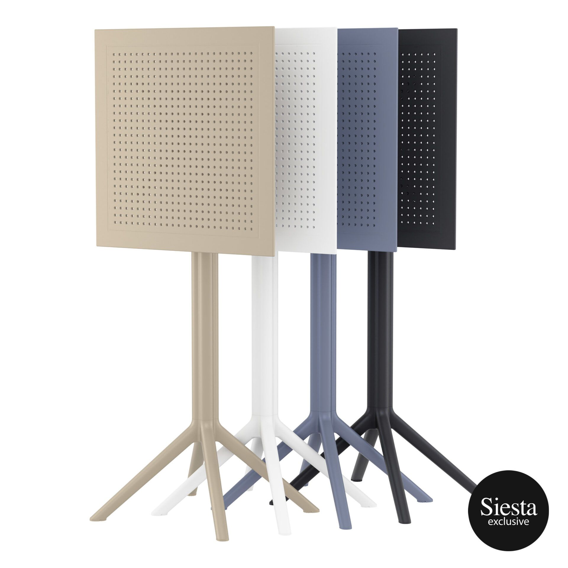 polypropylene outdoor sky folding bar table 60 stack 3