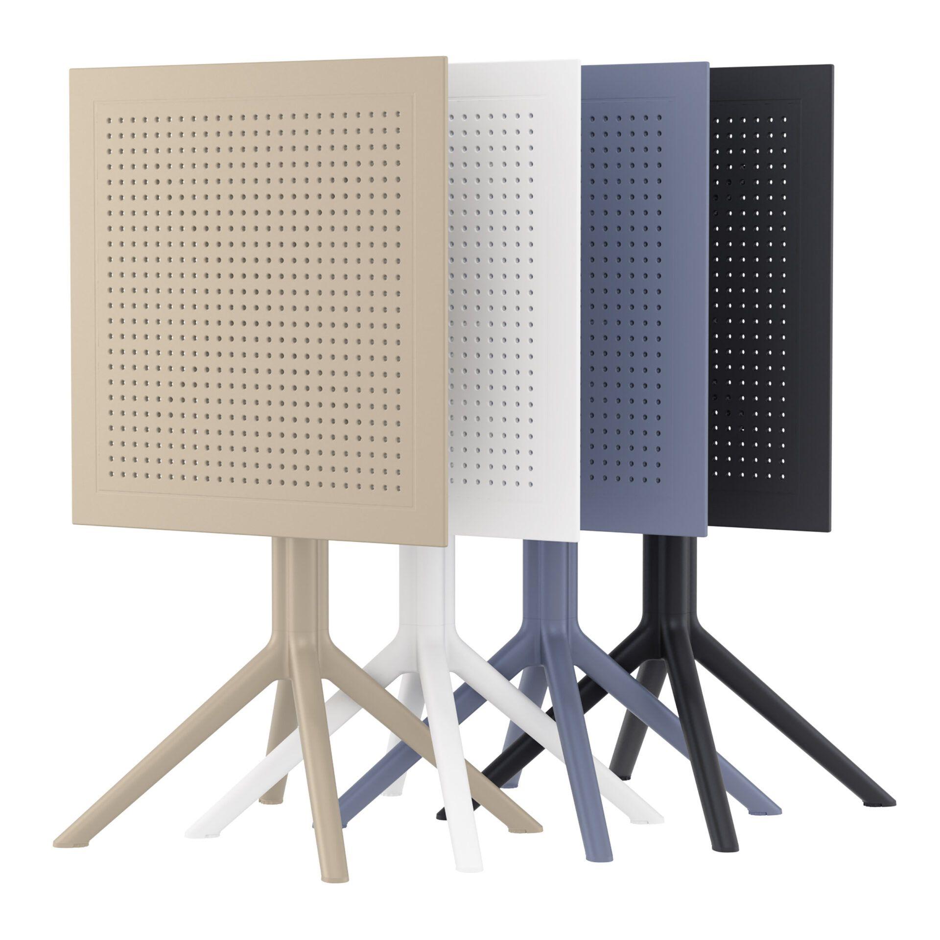 polypropylene outdoor sky folding bar table 60 stack