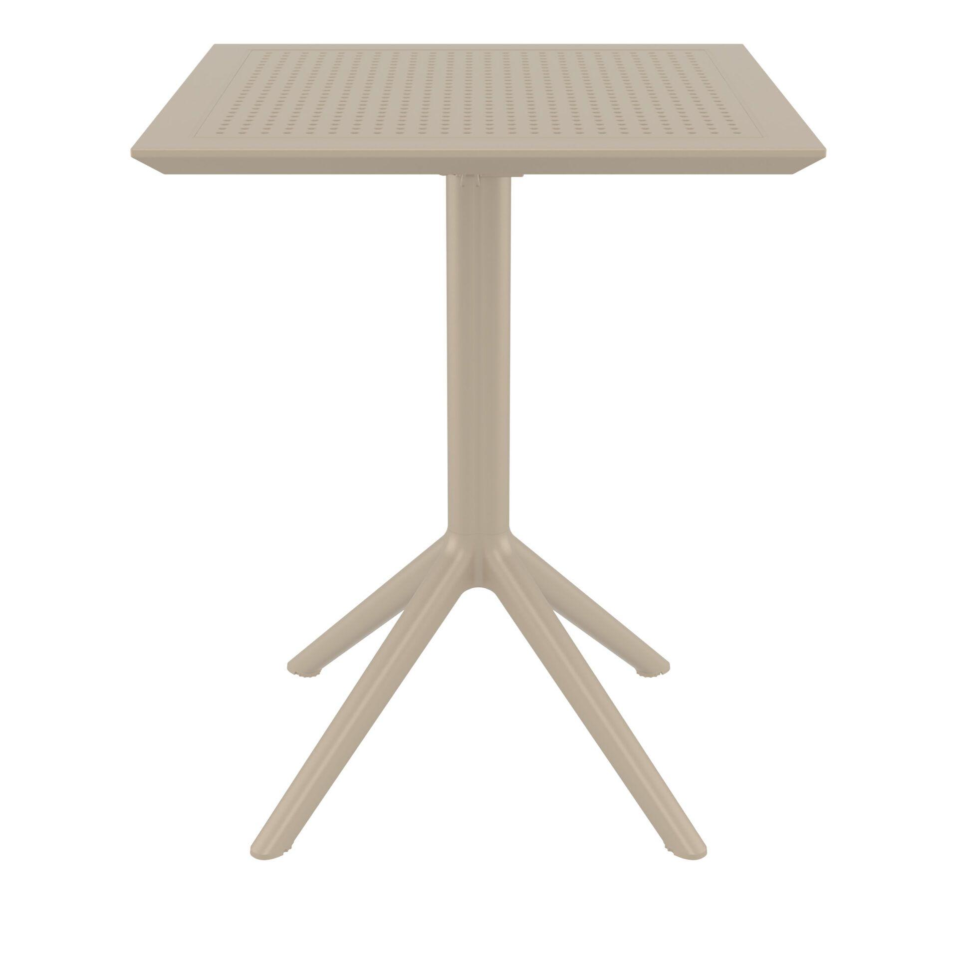 polypropylene outdoor sky folding bar table 60 taupe front