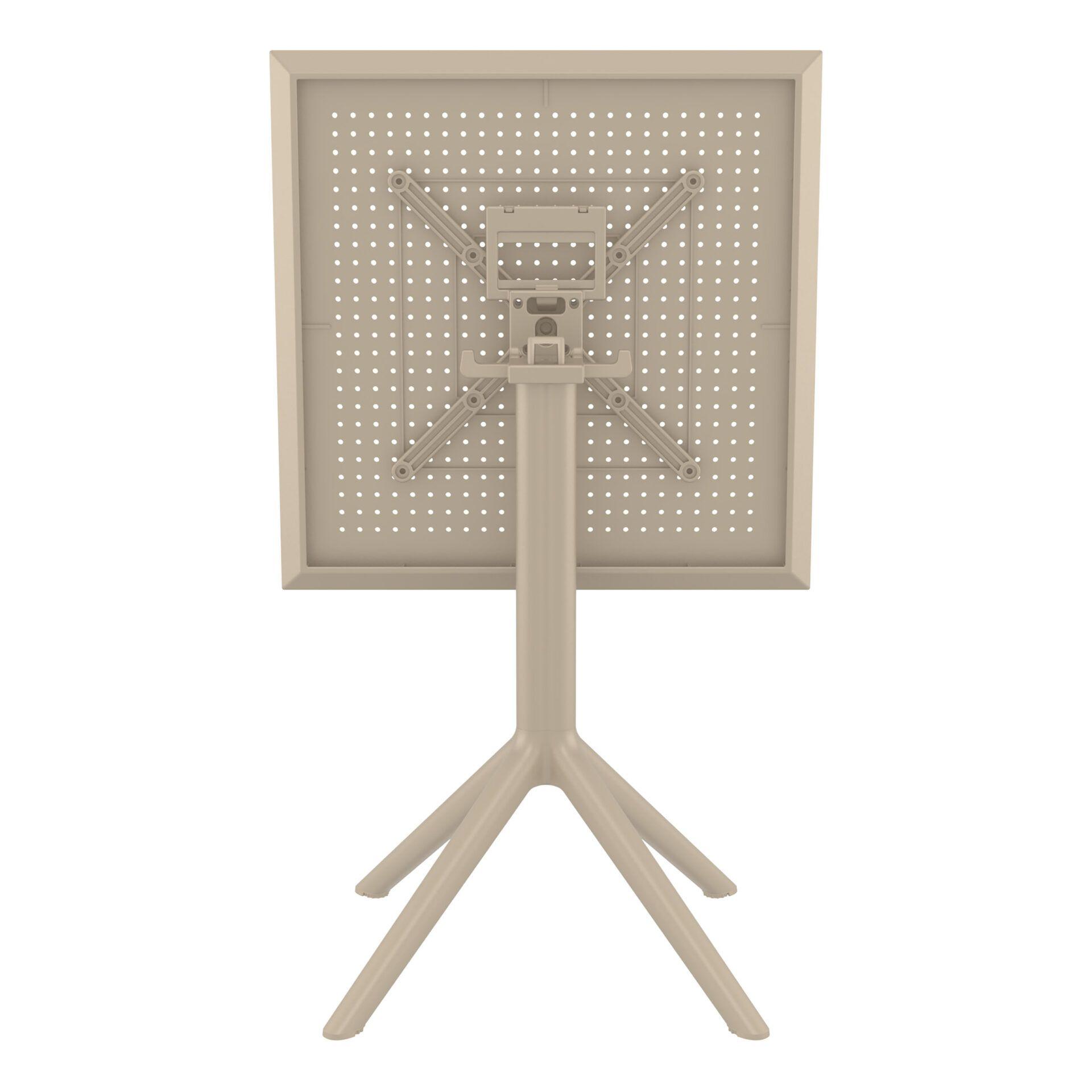 polypropylene outdoor sky folding bar table 60 taupe k back