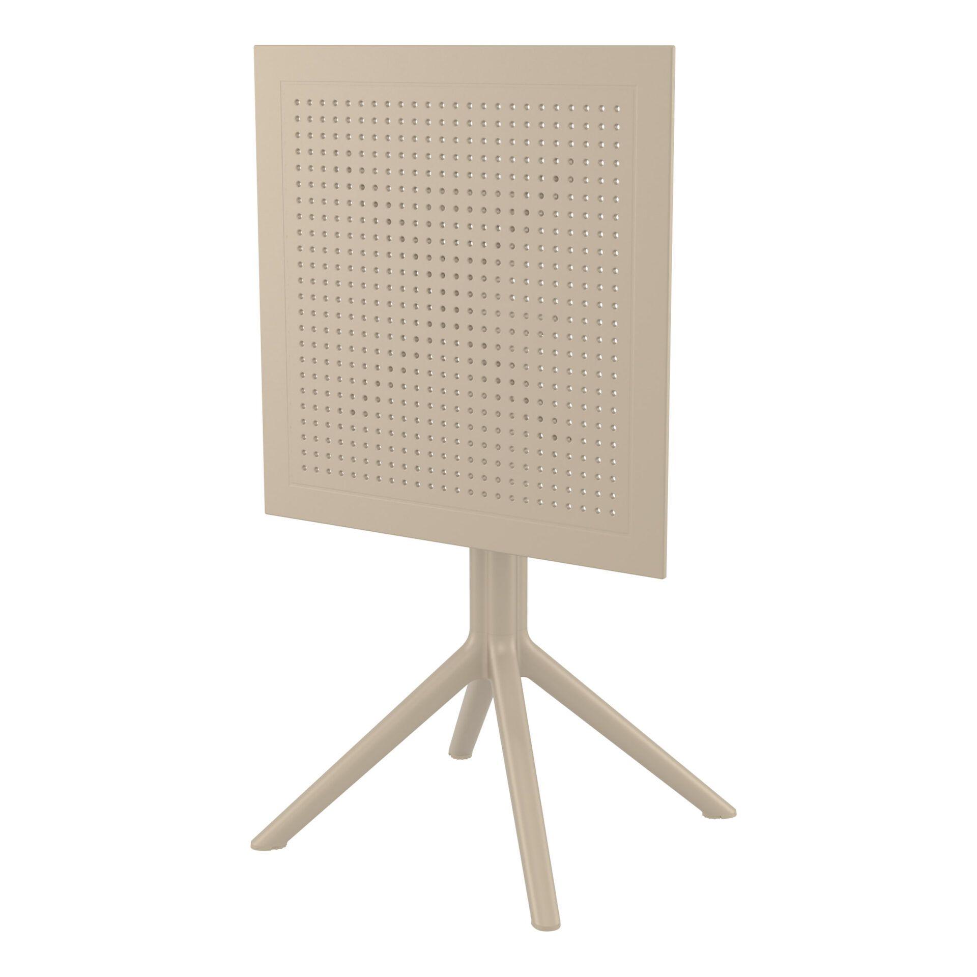 polypropylene outdoor sky folding bar table 60 taupe k front side