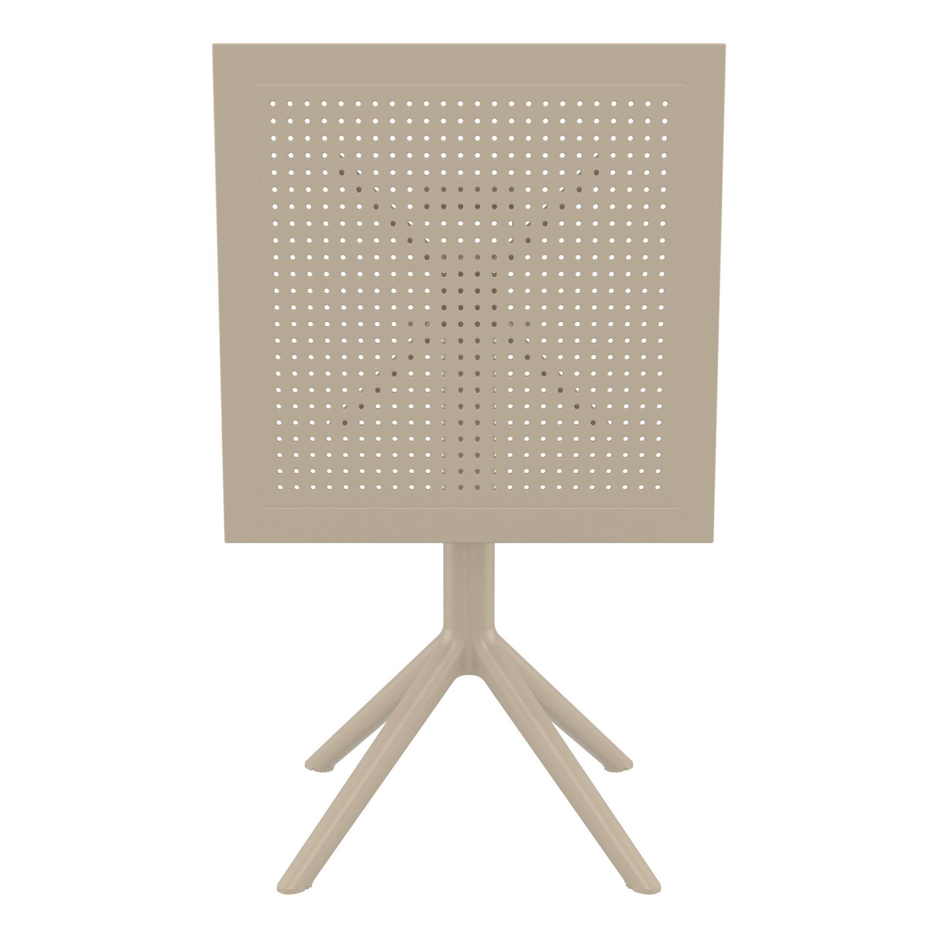 polypropylene outdoor sky folding bar table 60 taupe k front