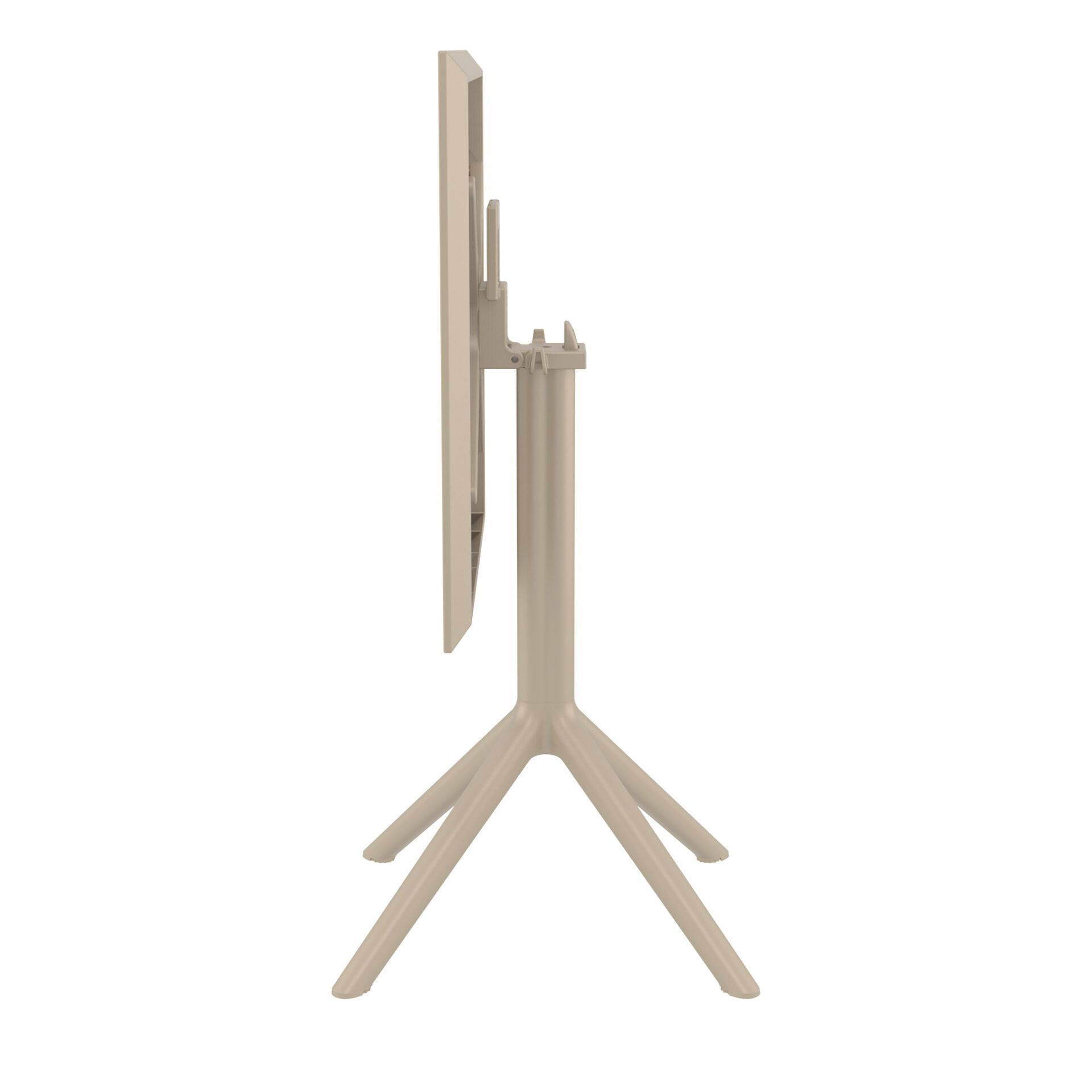 polypropylene outdoor sky folding bar table 60 taupe k side